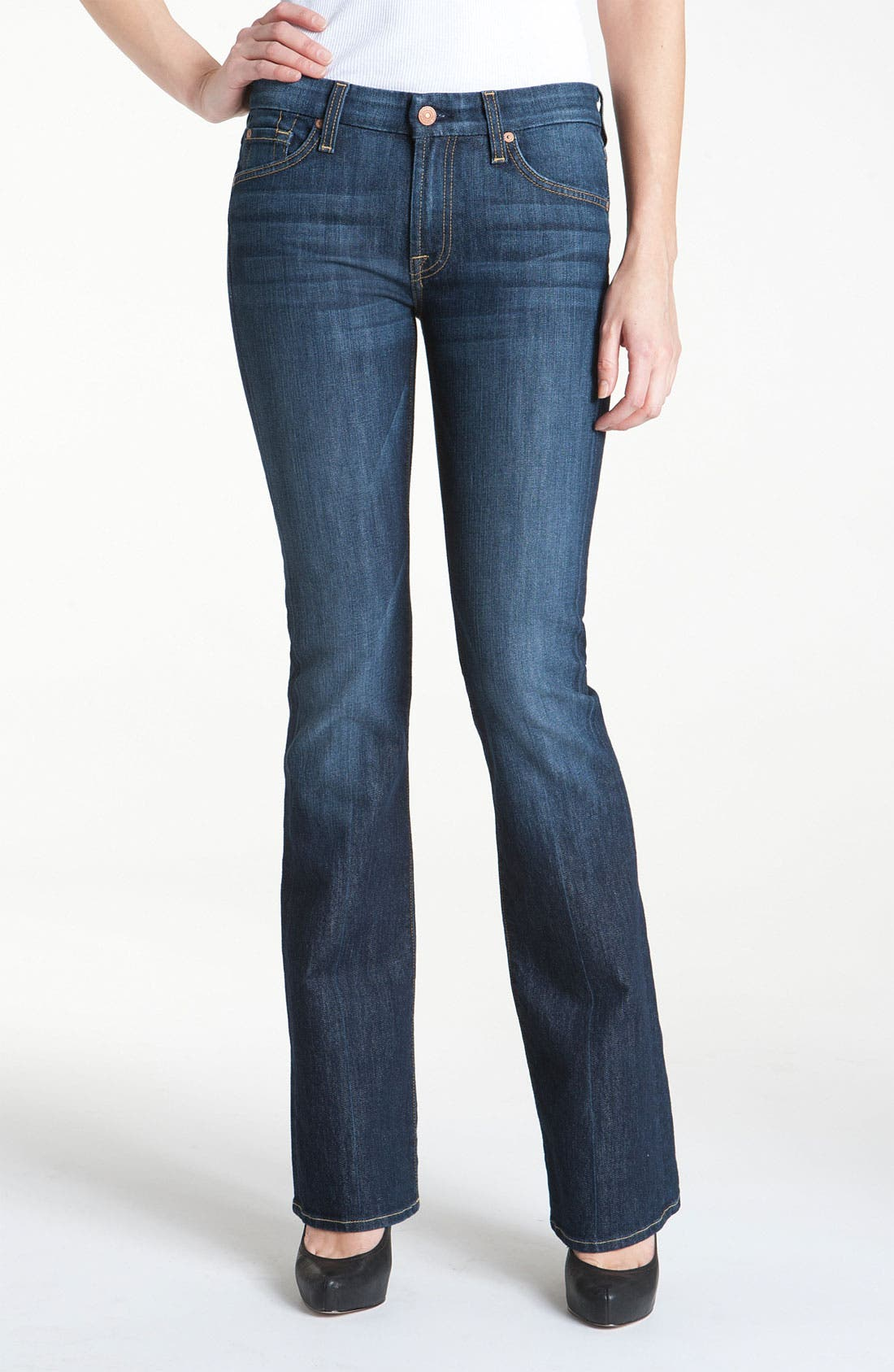 Alternate Image 1 Selected - 7 For All Mankind® 'Kimmie' Bootcut Jeans (Midnight New York Dark)