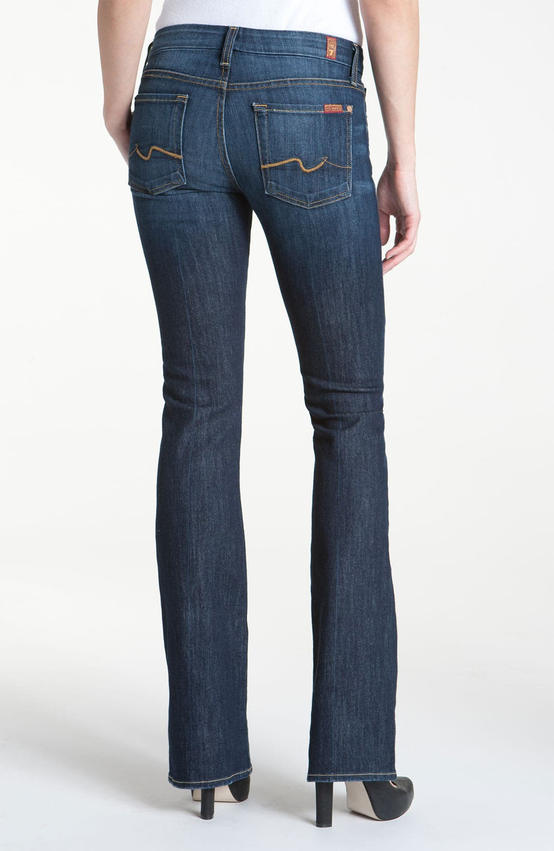 Alternate Image 2  - 7 For All Mankind® 'Kimmie' Bootcut Jeans (Midnight New York Dark)