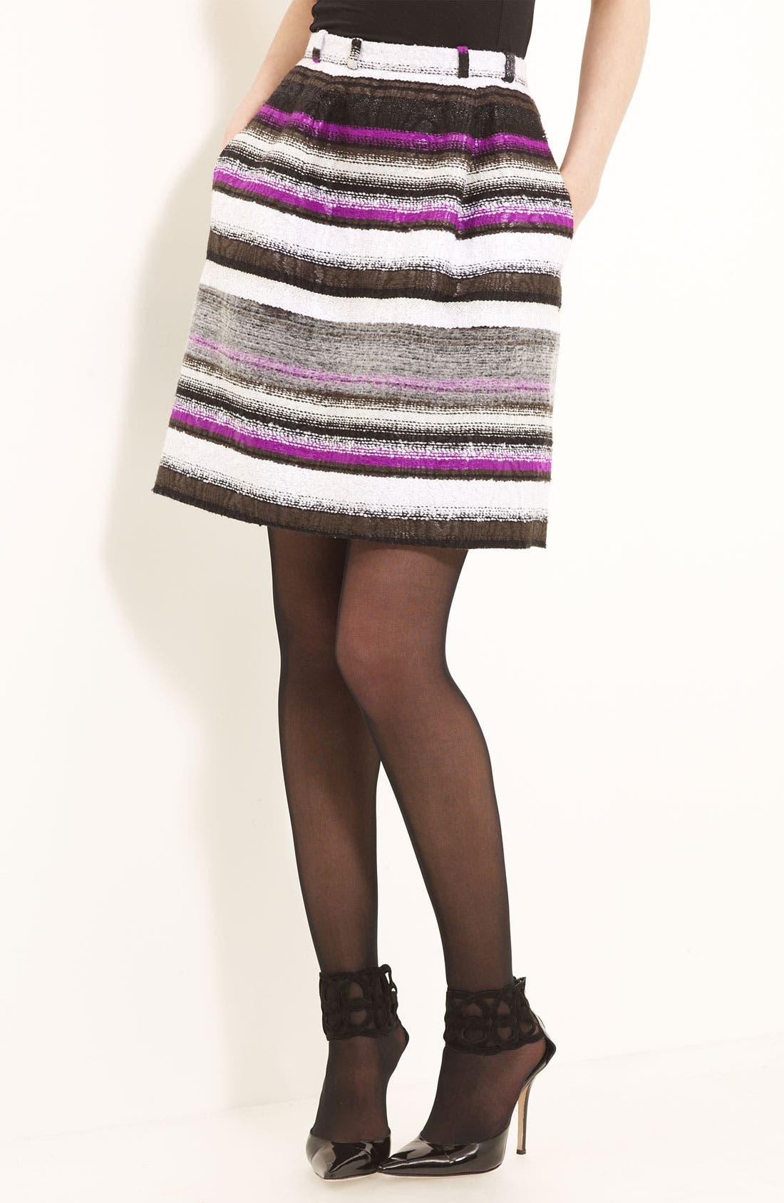 Main Image - Oscar de la Renta Colorblock Tweed Skirt