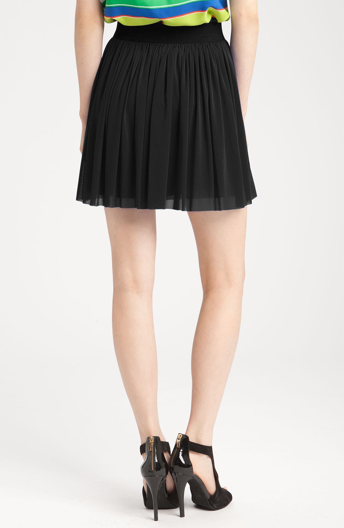 Alternate Image 2  - Vince Camuto Mesh Skirt with Elastic Waistband
