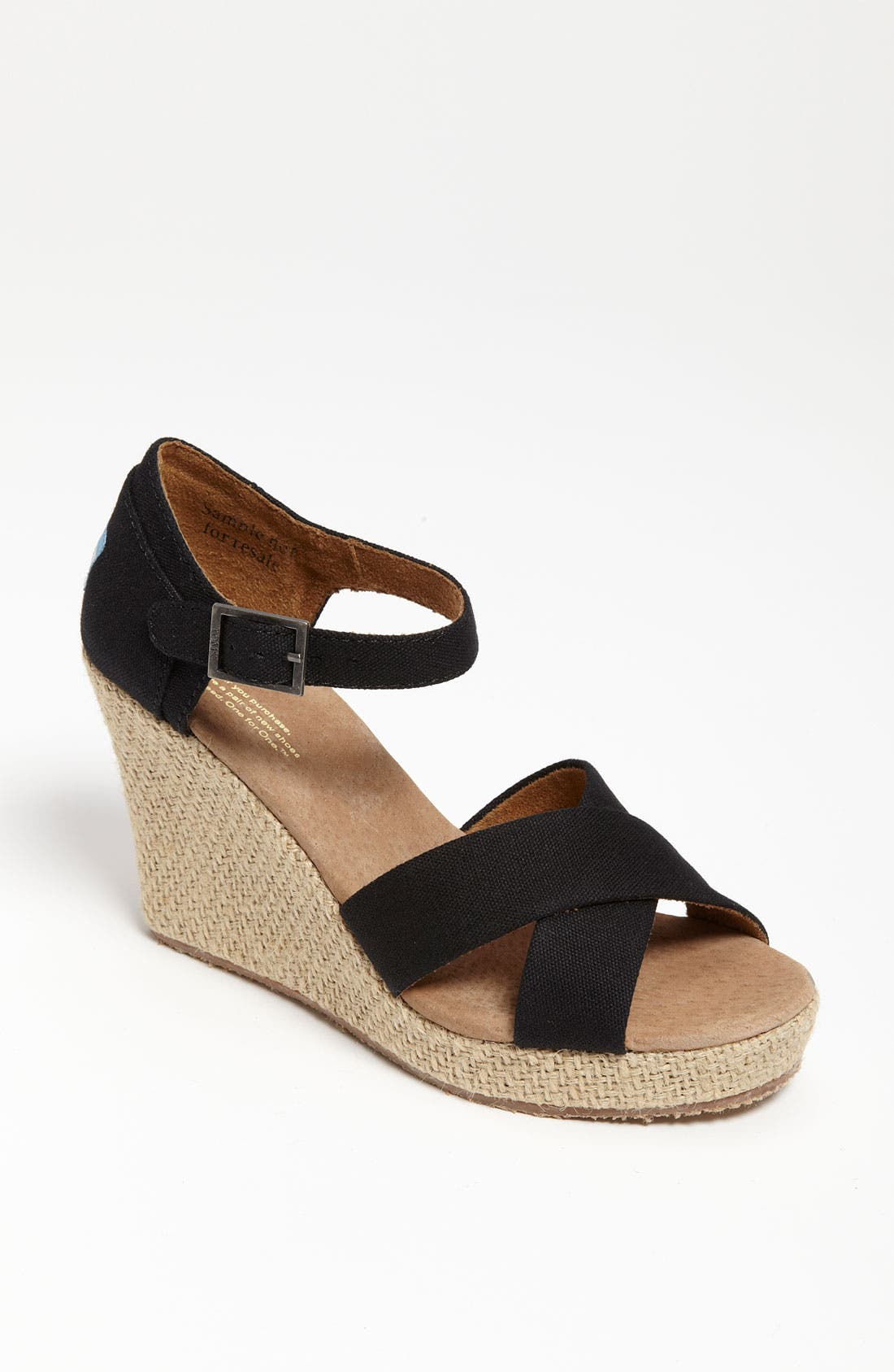 Alternate Image 1 Selected - TOMS Canvas Wedge Sandal