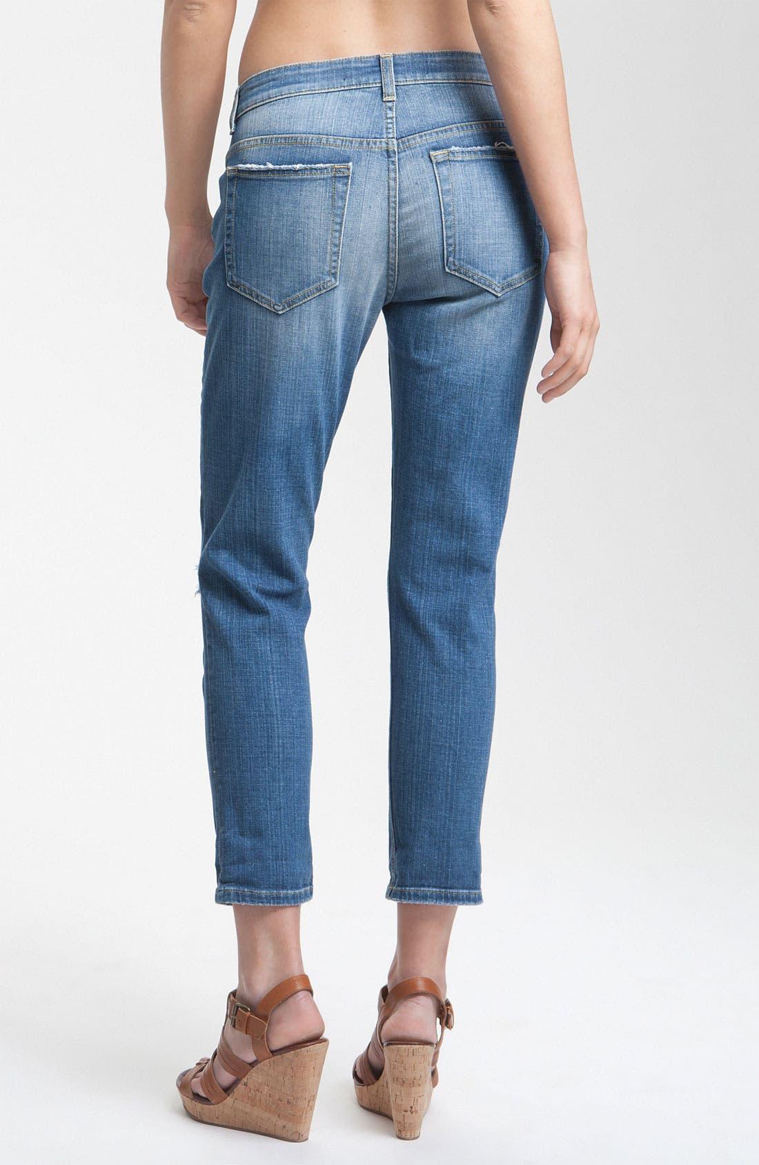 Alternate Image 2  - Joe's 'Easy Fit' Destroyed Crop Jeans (Penelope)