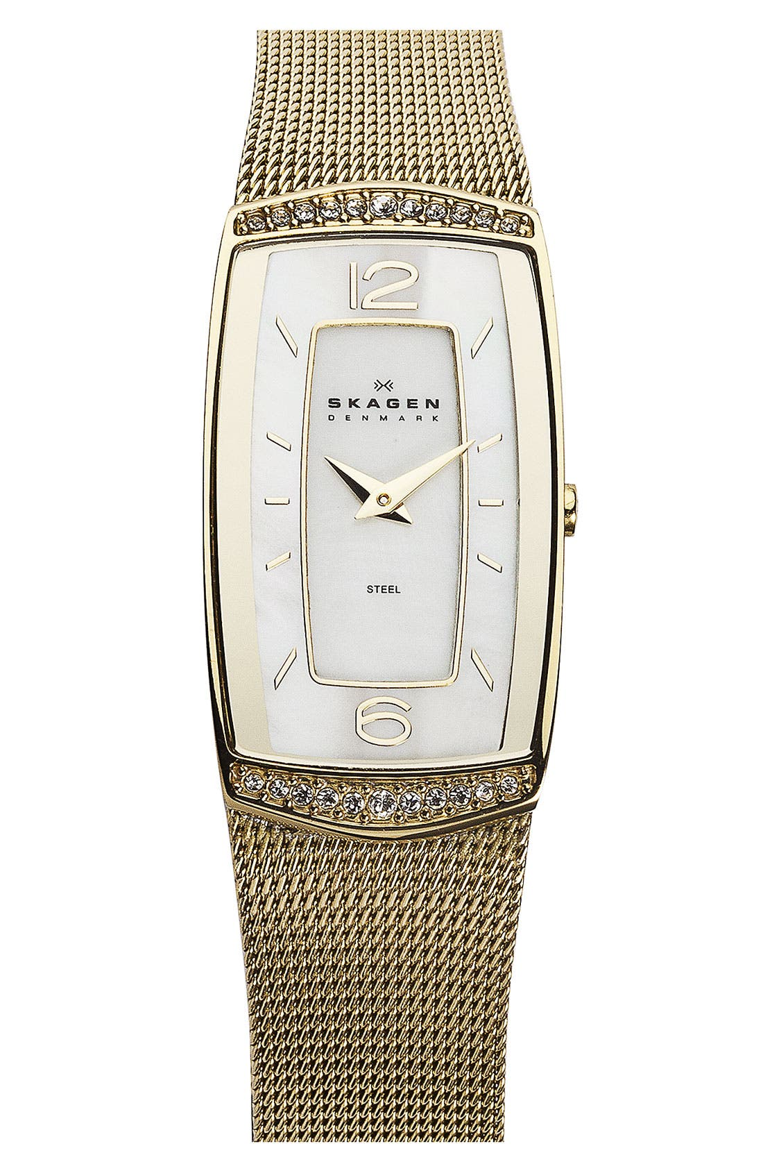 Main Image - Skagen Rectangular Mesh Watch