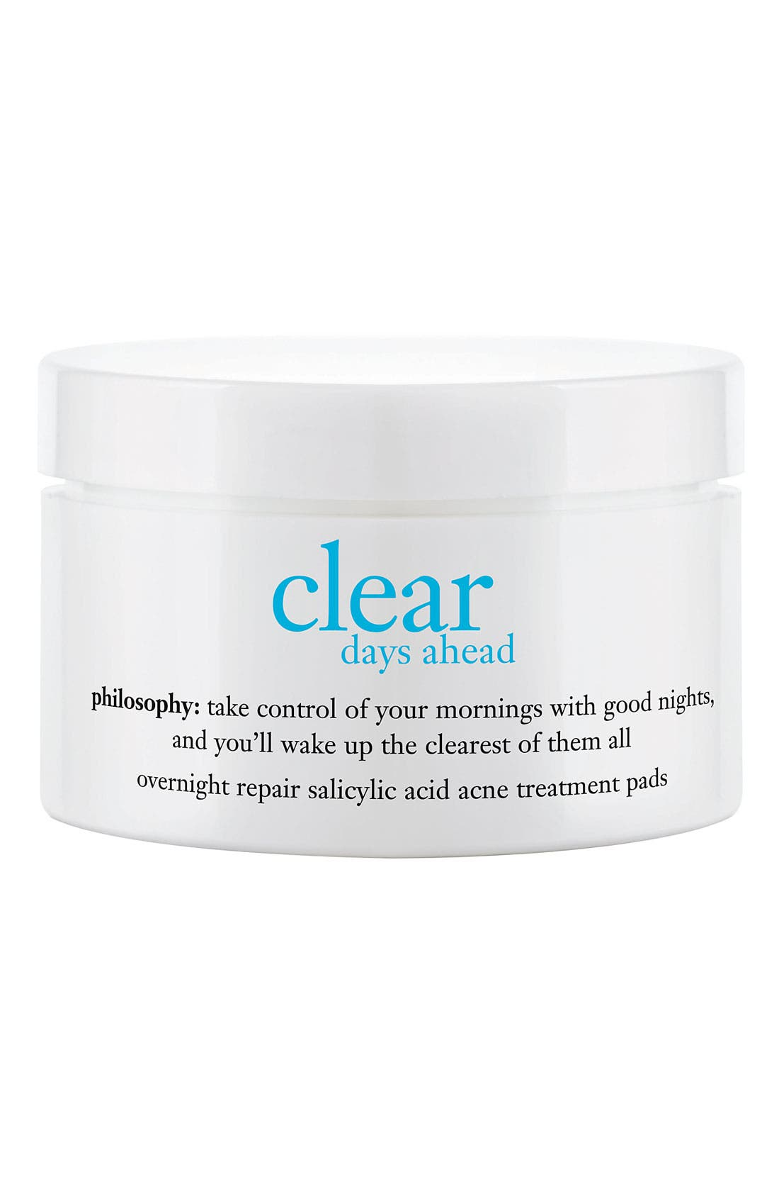 philosophy 'clear days ahead overnight repair' acne treatment pads