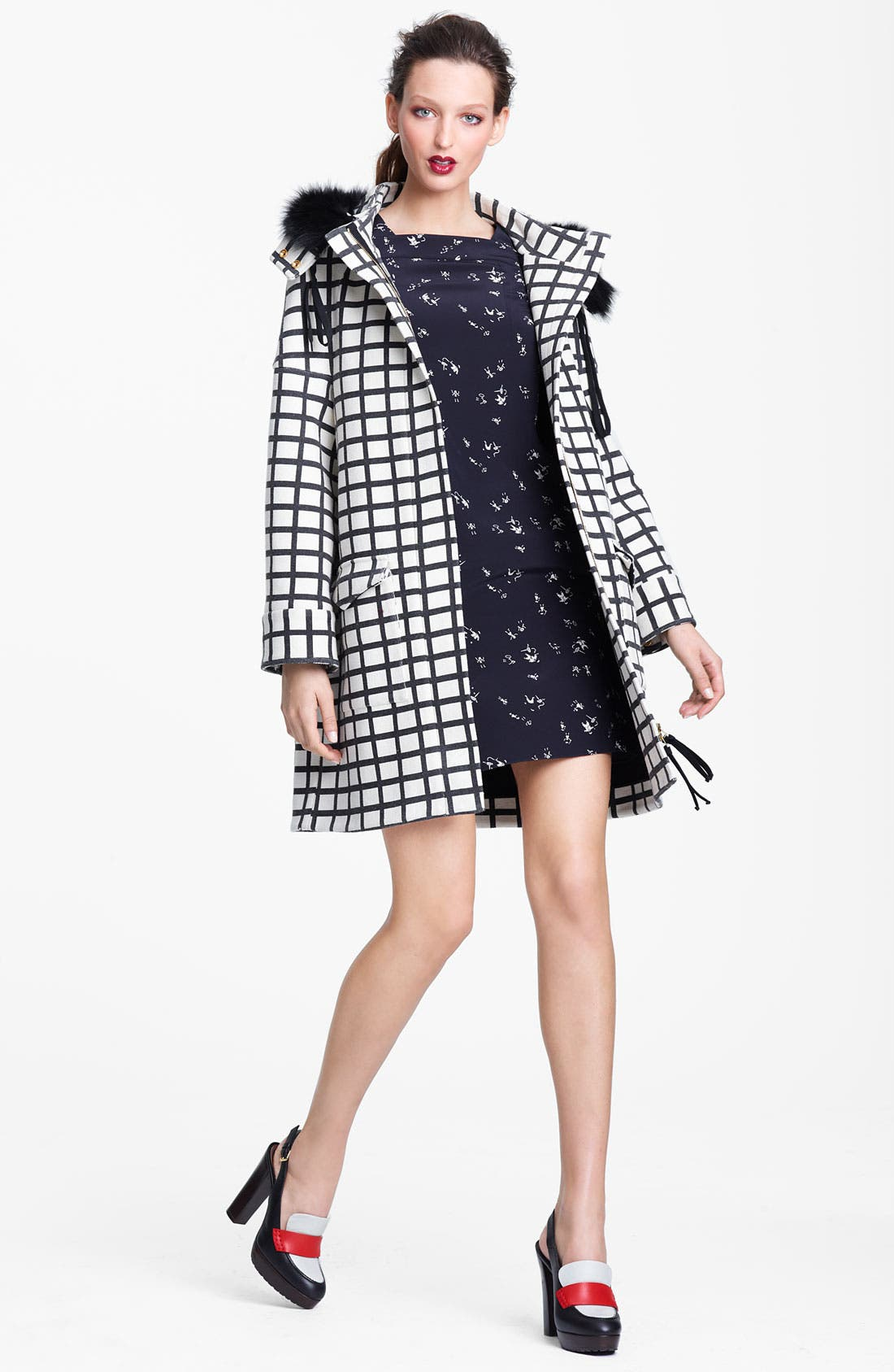 Alternate Image 4  - Marni Edition People Print Square Neck Crepe Dress