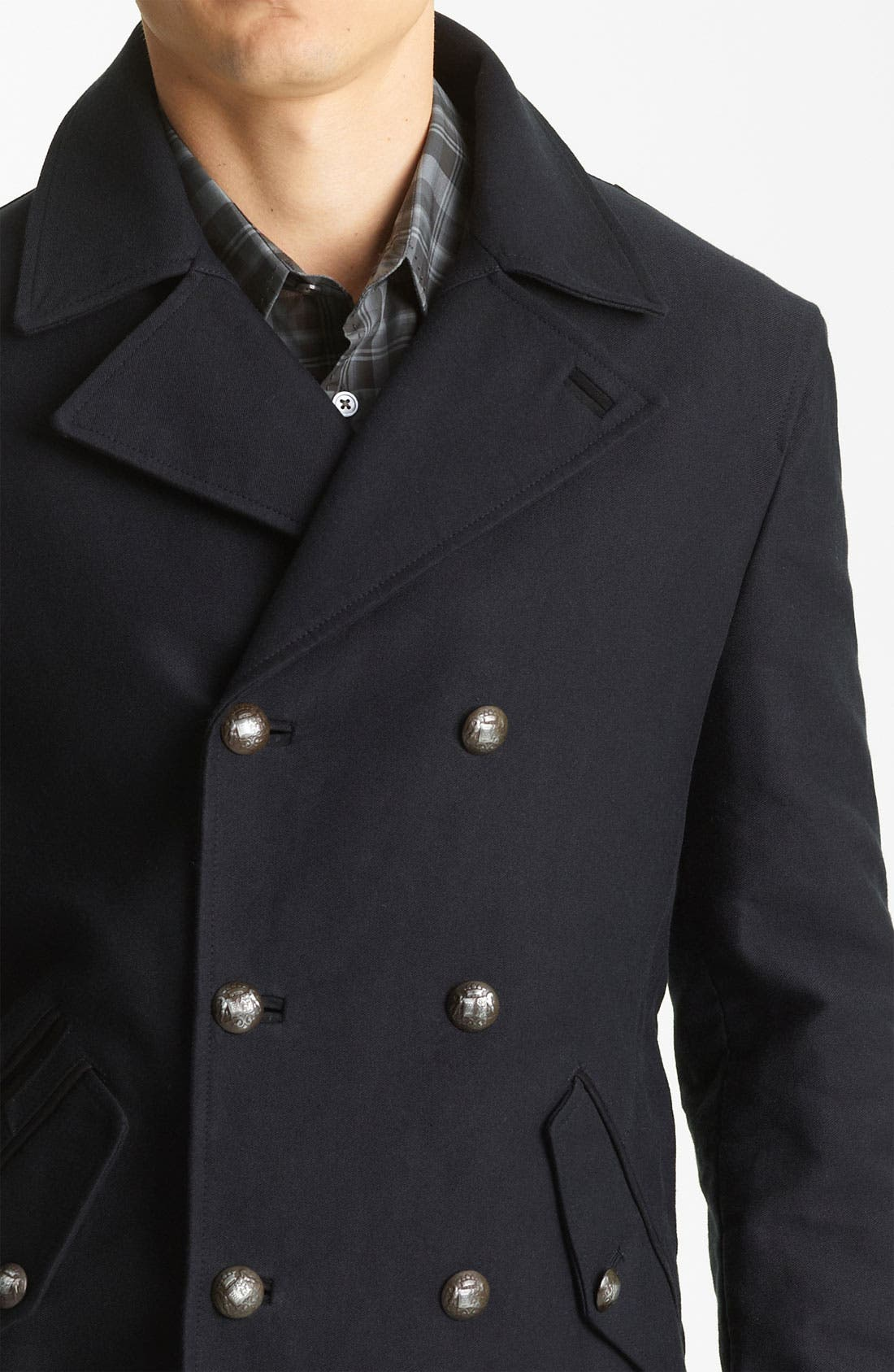 Alternate Image 3  - John Varvatos Collection Peacoat