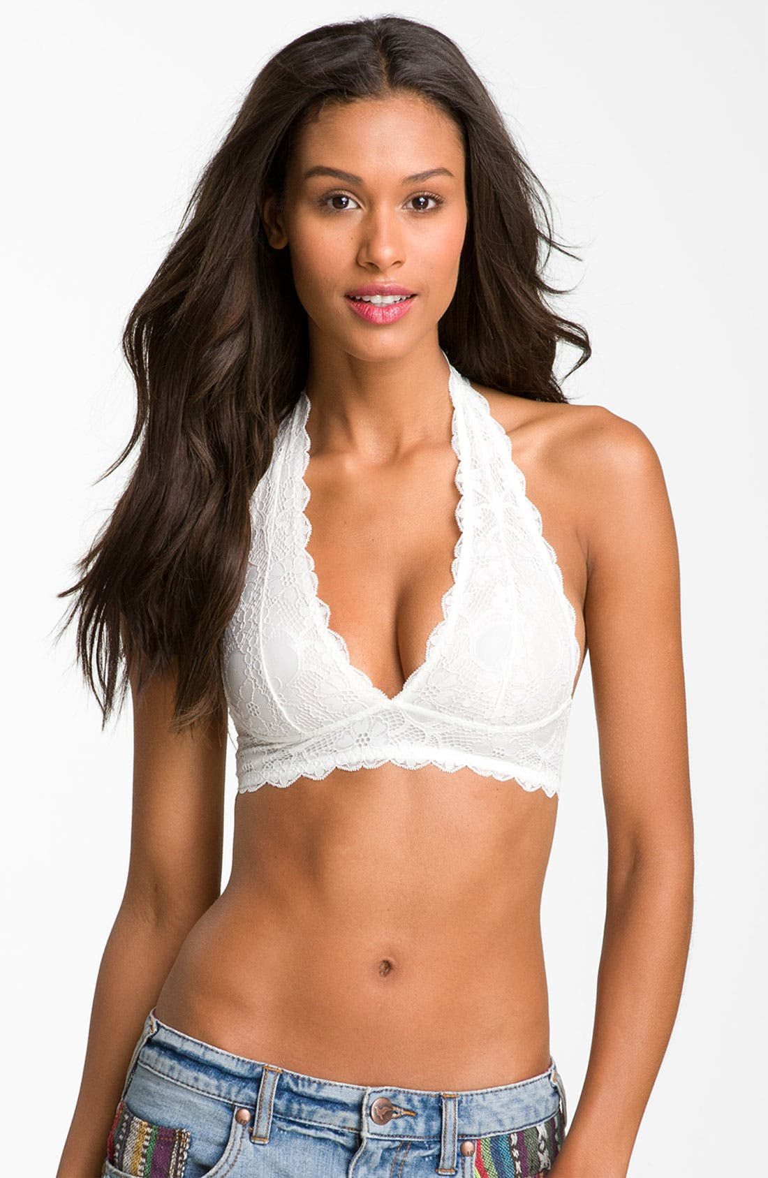 Main Image - Free People Lace Halter Bralette