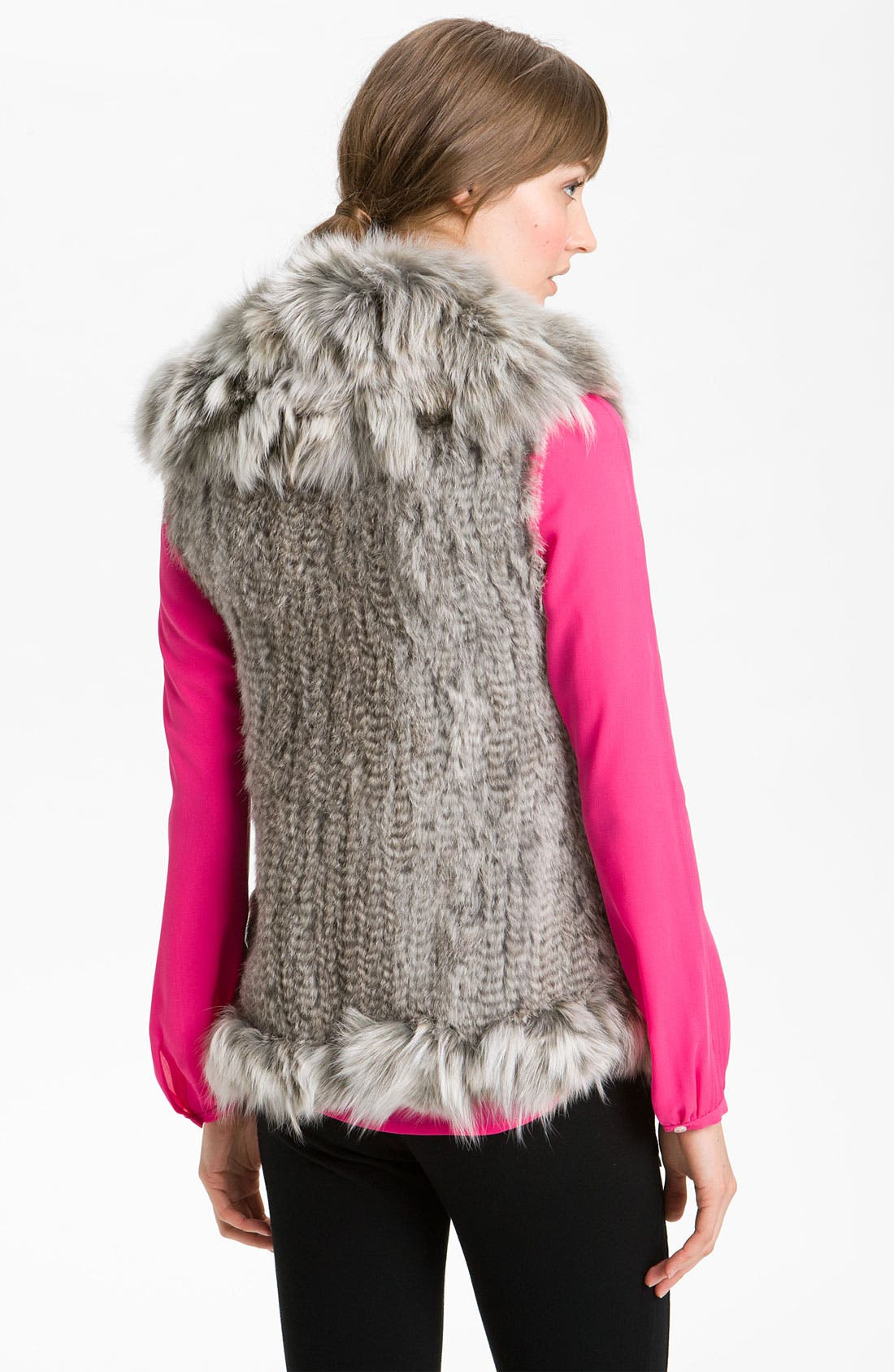 Alternate Image 3  - Damselle Rabbit & Fox Fur Vest