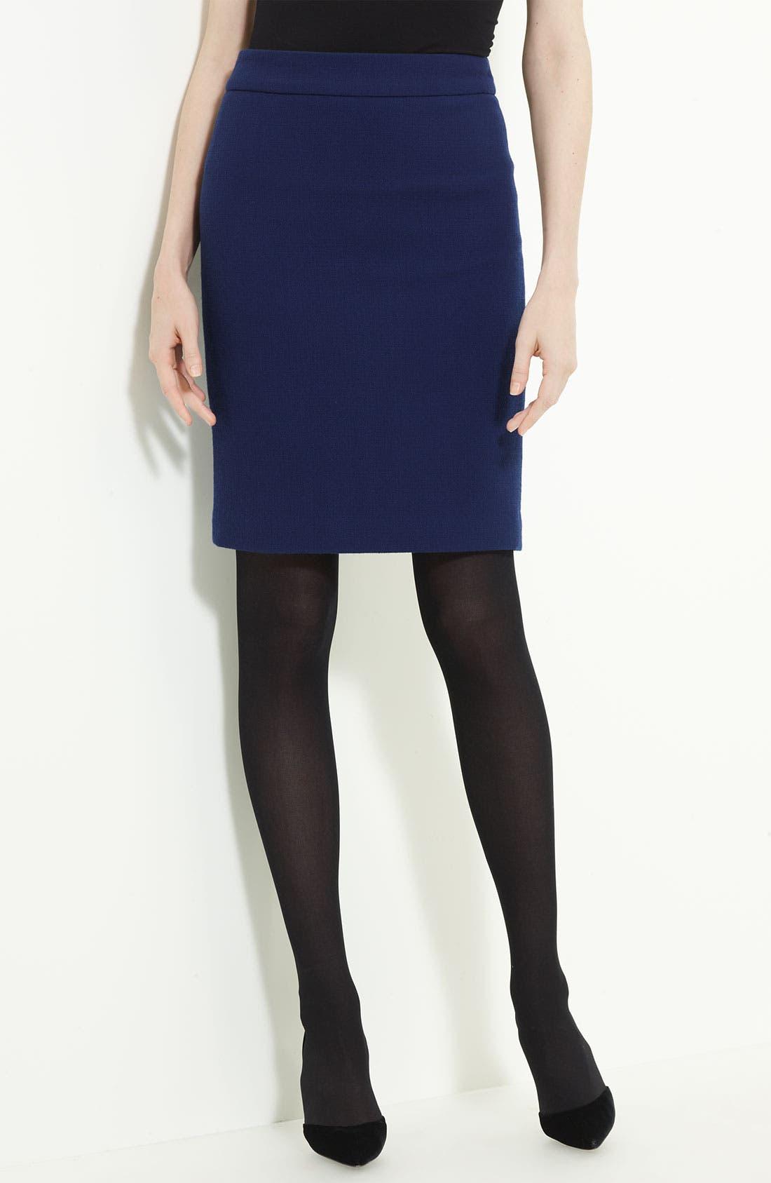 Alternate Image 1 Selected - Armani Collezioni Crepe Skirt