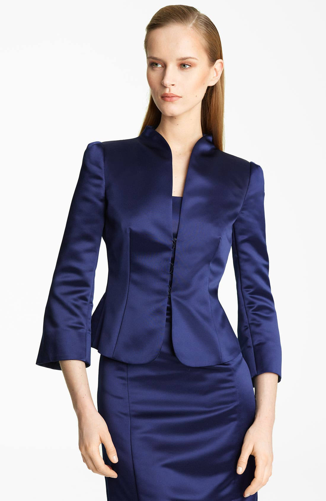 Alternate Image 1 Selected - Armani Collezioni Duchesse Satin Jacket