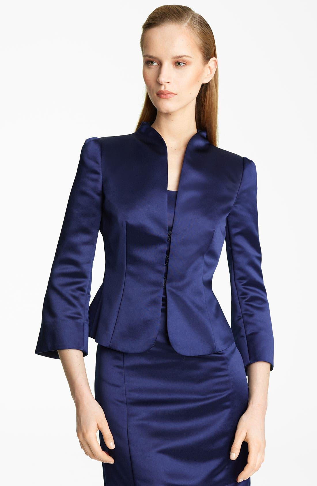 Main Image - Armani Collezioni Duchesse Satin Jacket