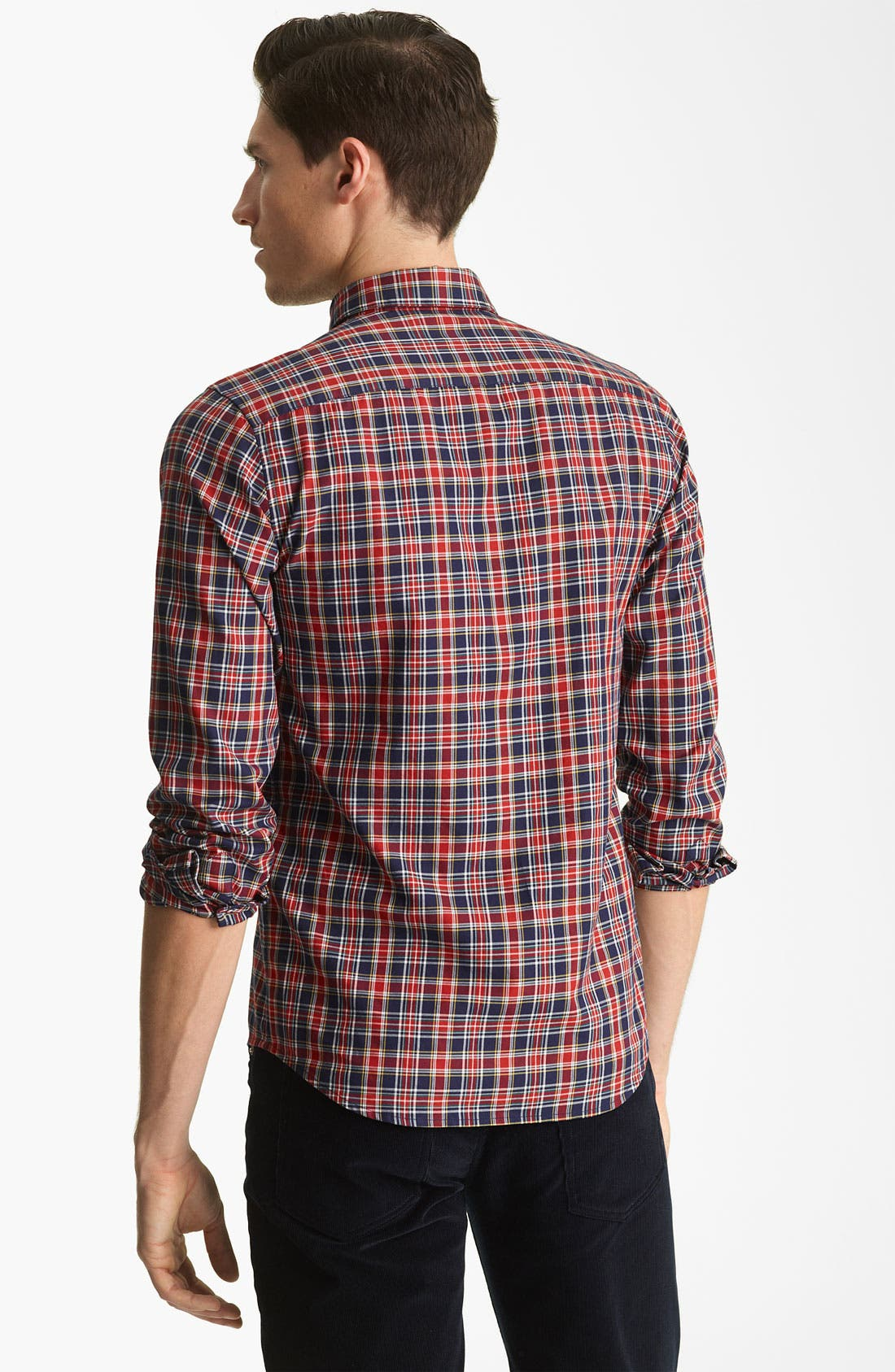 Alternate Image 2  - A.P.C. 'Vintage' Plaid Cotton Shirt