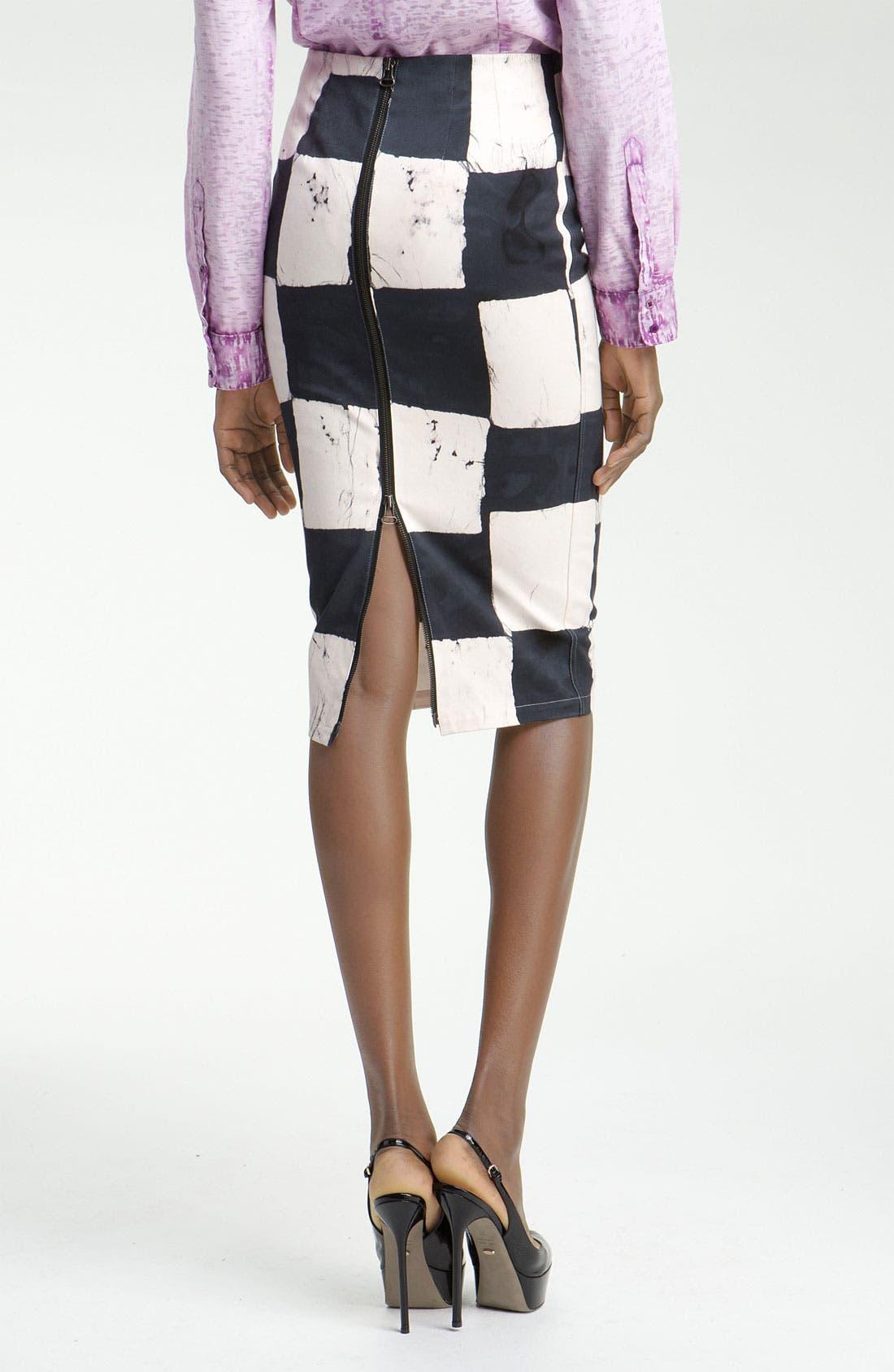 Alternate Image 2  - Kelly Wearstler Cube Batik Print Pencil Skirt