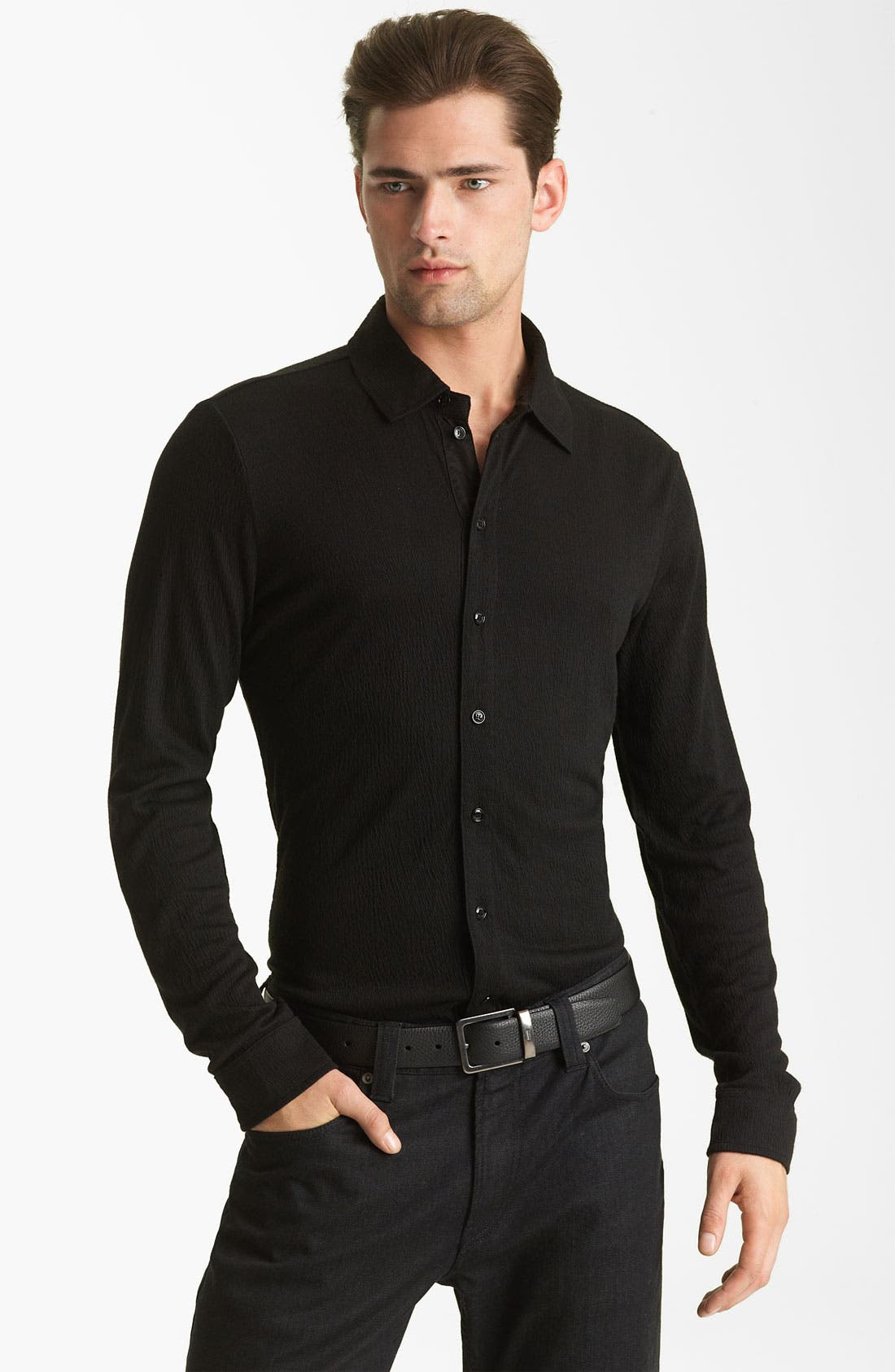 Alternate Image 1 Selected - Armani Collezioni Knit Shirt