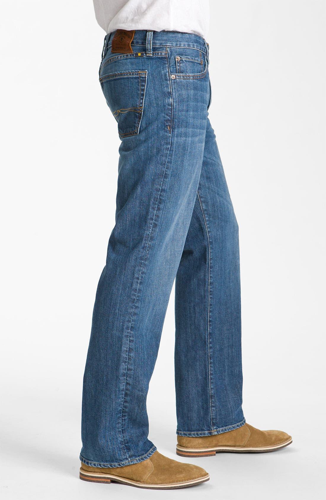 Alternate Image 3  - Lucky Brand '361 Vintage' Straight Leg Jeans (Rinse)