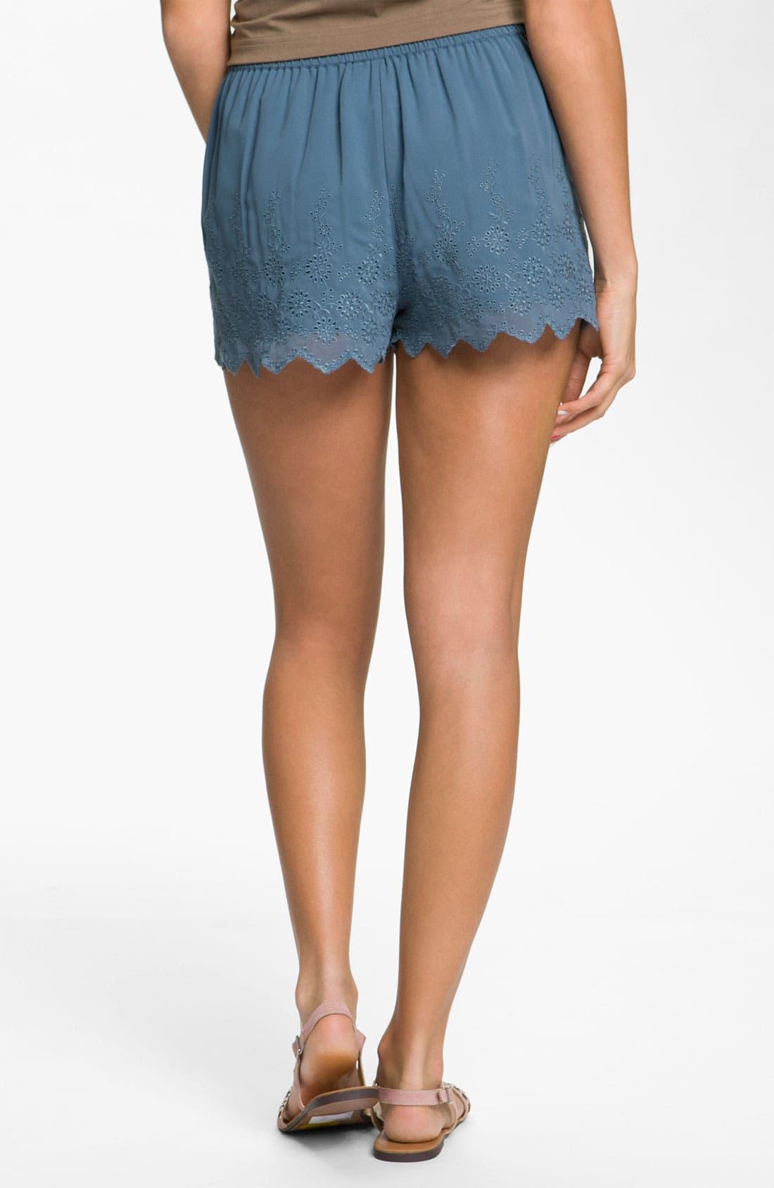 Alternate Image 2  - Frenchi® Eyelet Shorts (Juniors)