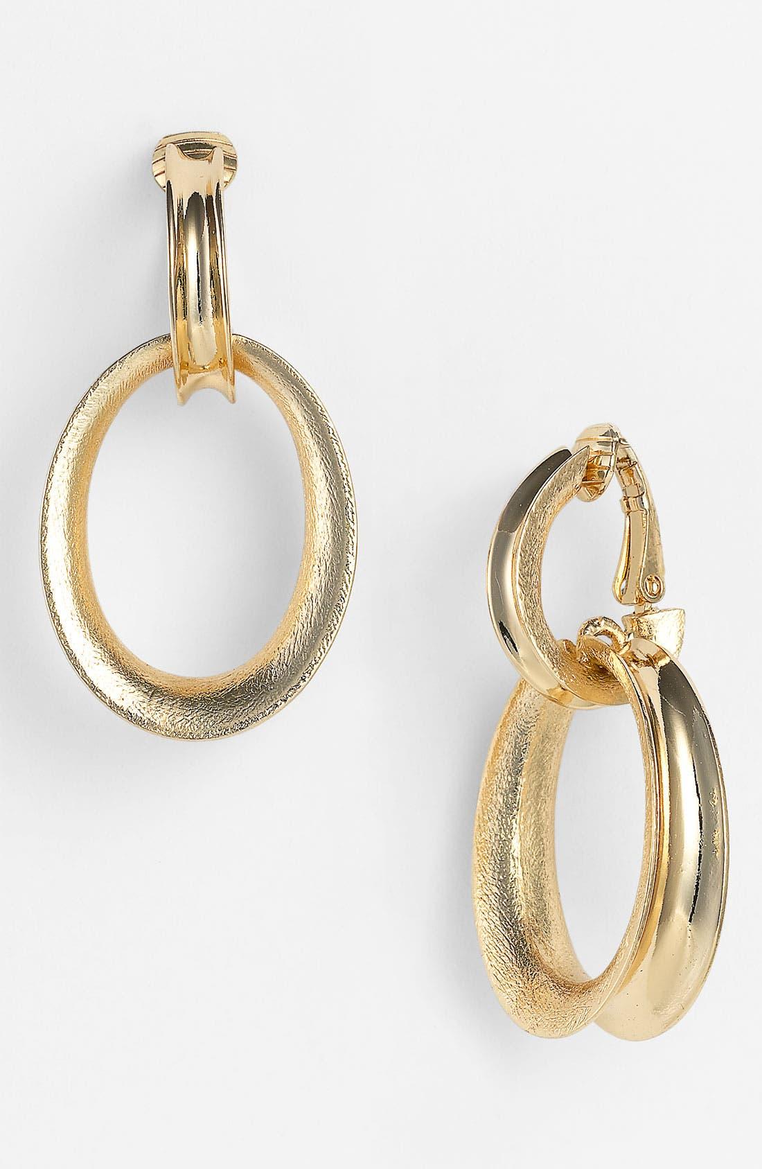 Main Image - Anne Klein Door Knocker Clip Earrings