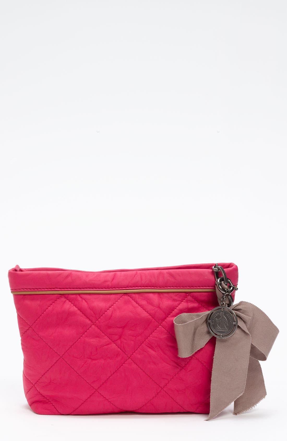 Main Image - Lanvin 'Amalia' Leather Pouchette