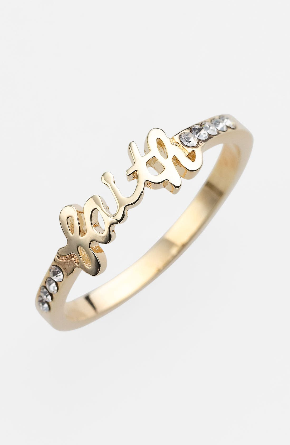Alternate Image 1 Selected - Ariella Collection 'Messages - Faith' Script Ring (Nordstrom Exclusive)