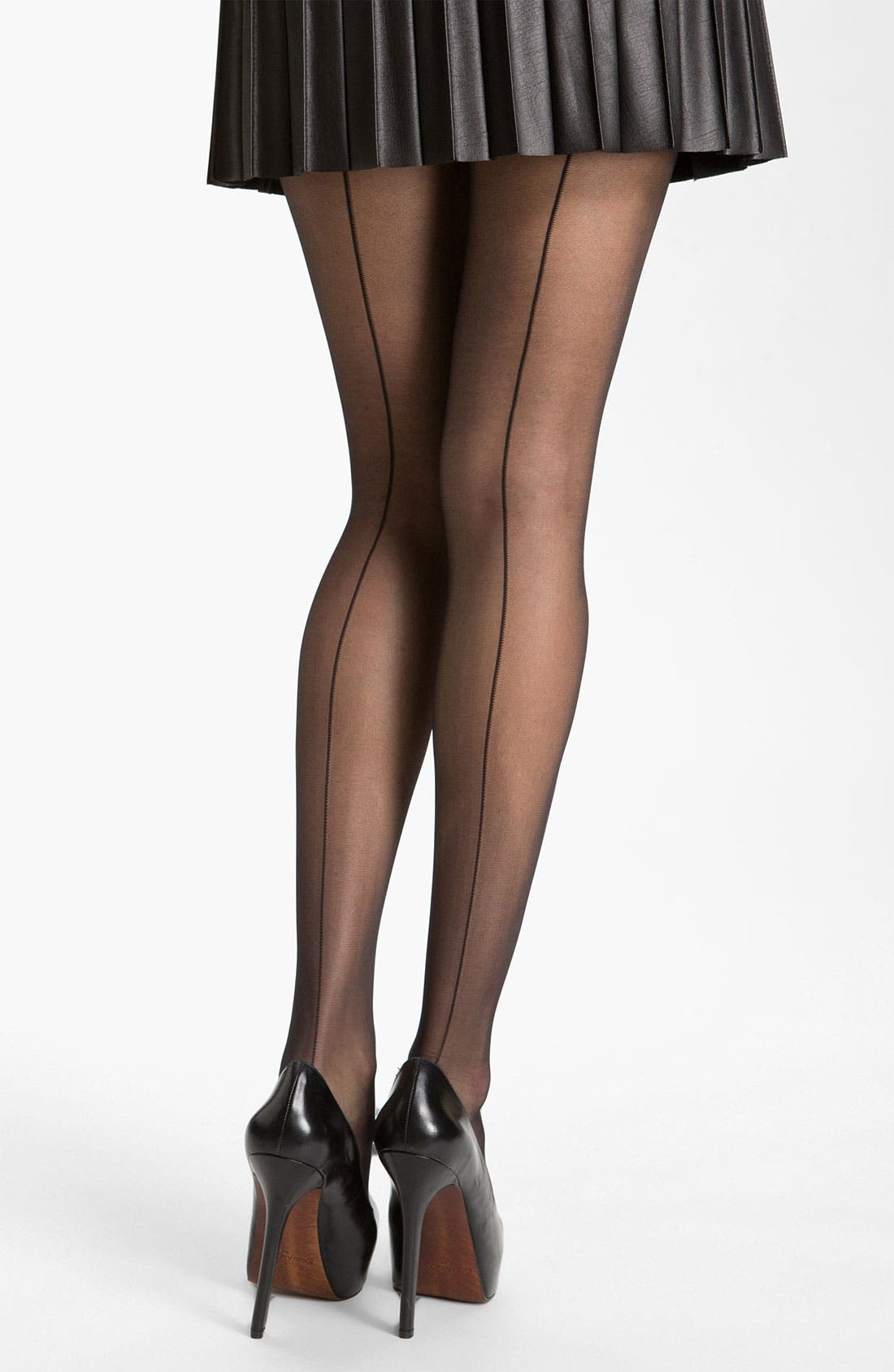 Main Image - Nordstrom Sheer Back Seam Control Top Stockings