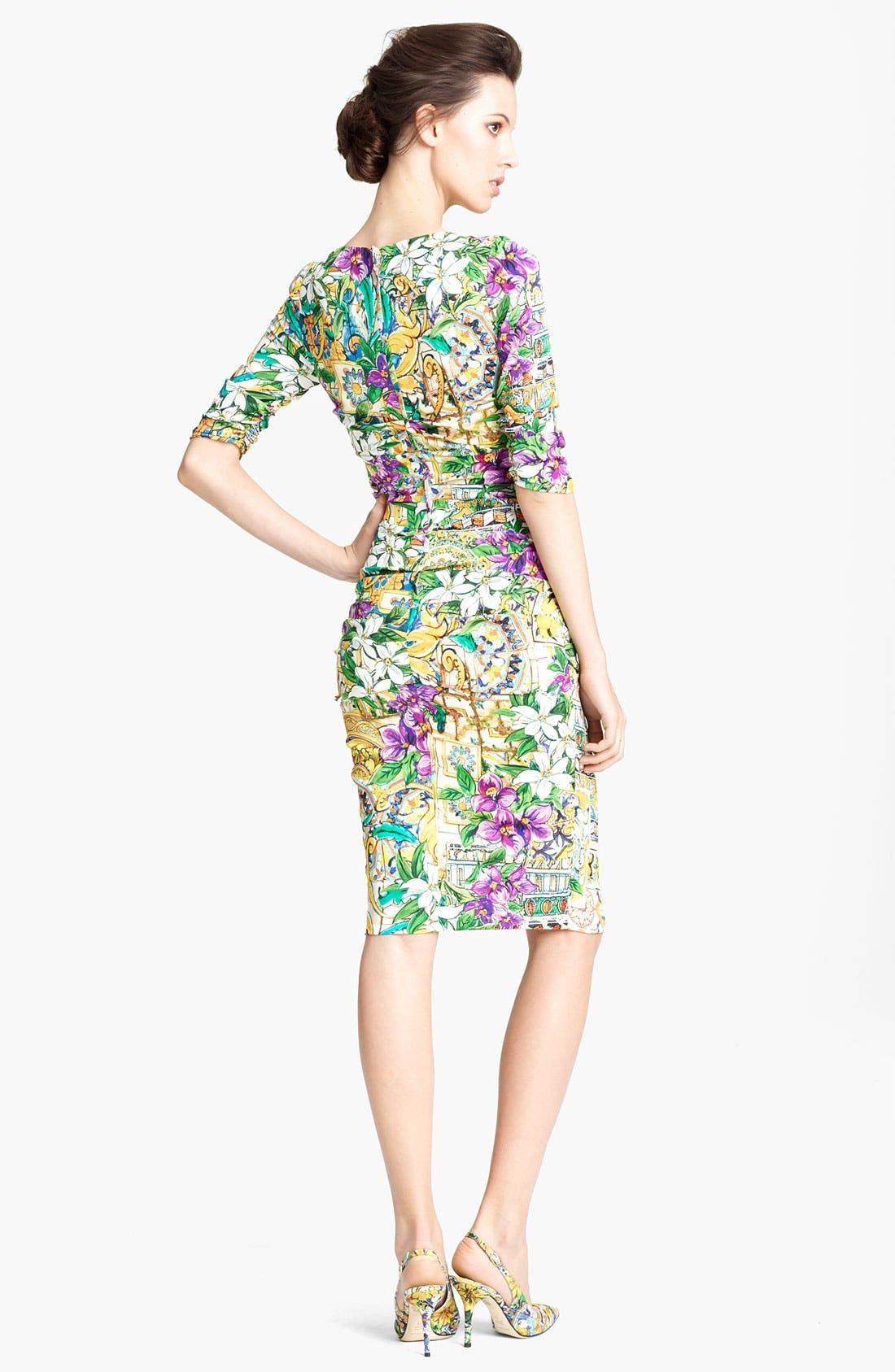Alternate Image 2  - Dolce&Gabbana Floral Print Silk Dress