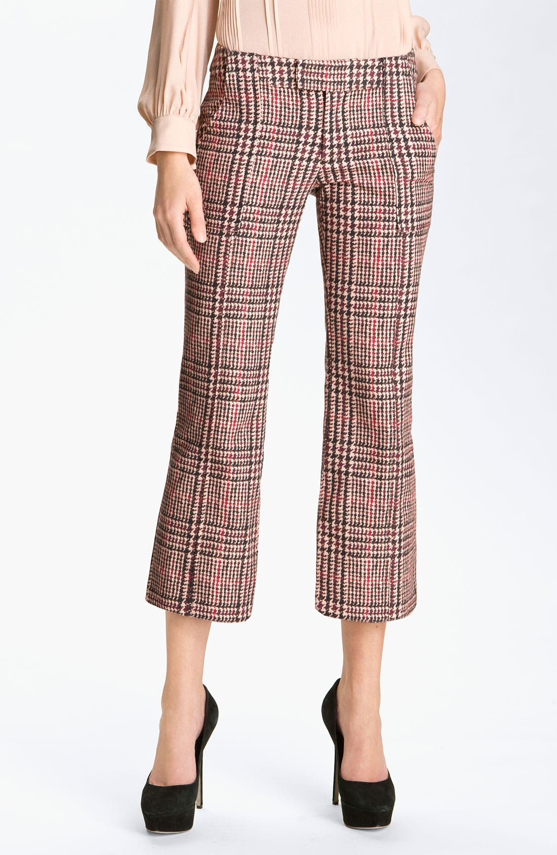Alternate Image 1 Selected - Derek Lam 10 Crosby Houndstooth Crop Pants