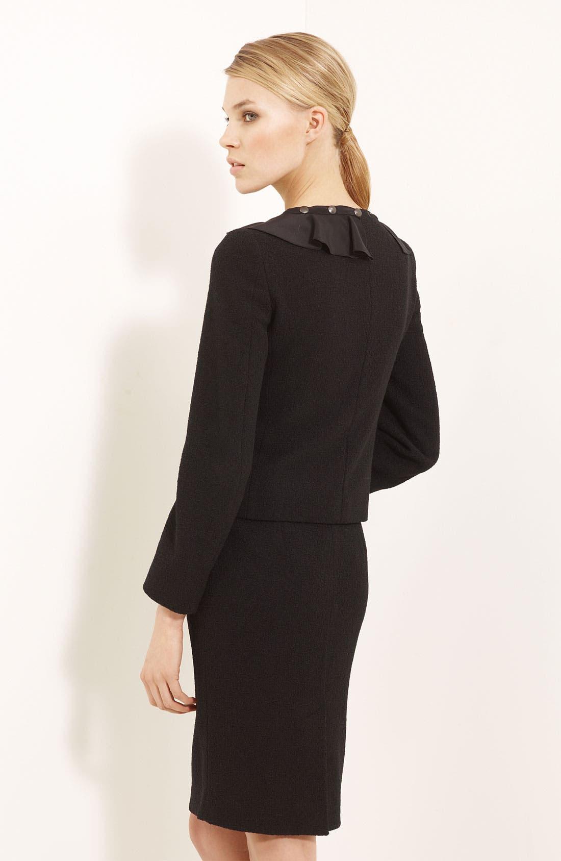 Alternate Image 2  - Moschino Cheap & Chic Detachable Ruffle Trim Jacket