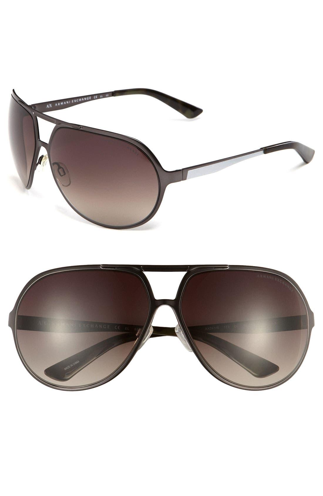 Alternate Image 1 Selected - AX Armani Exchange Aviator Sunglasses