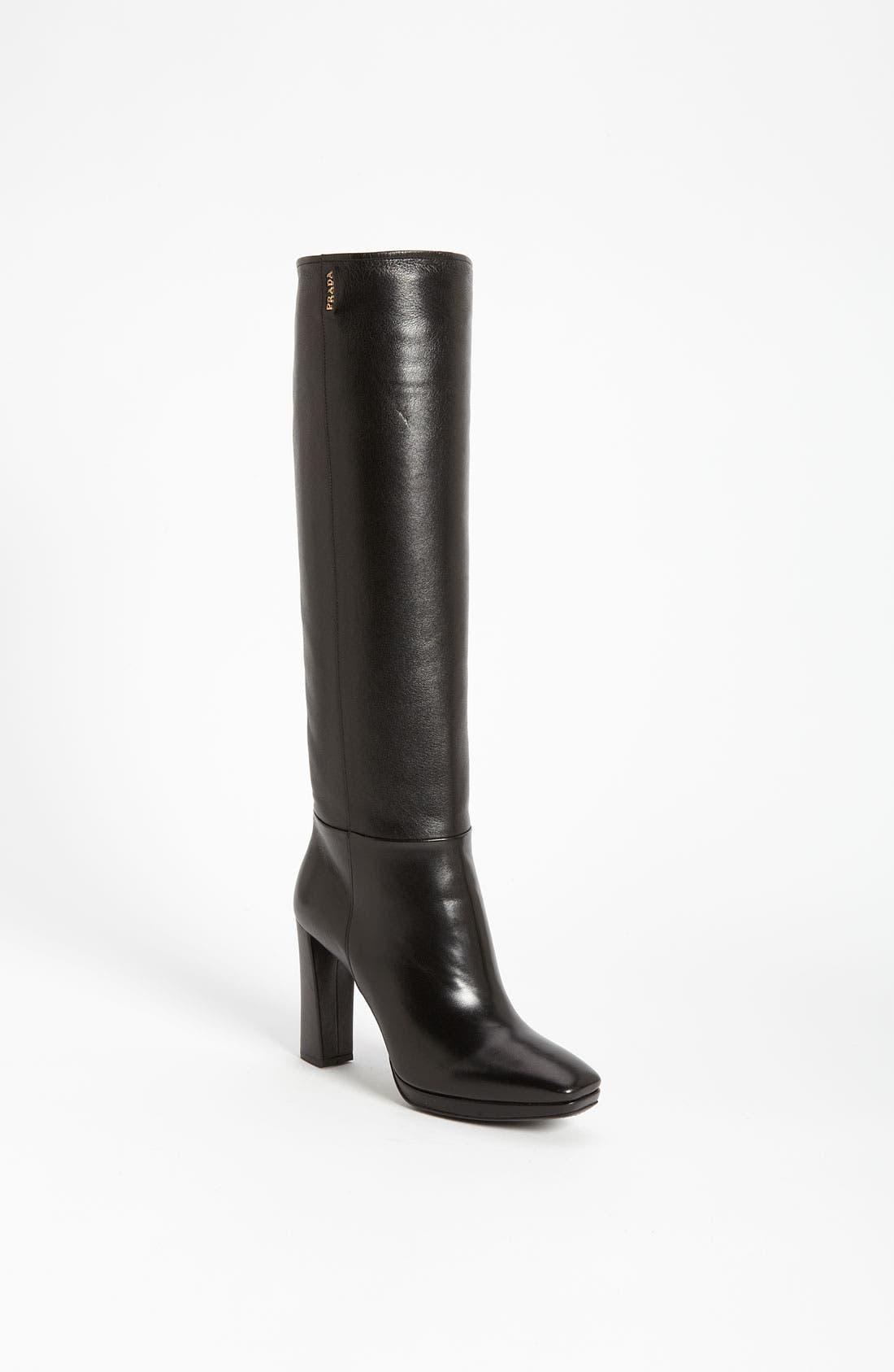 Alternate Image 1 Selected - Prada Tall Buckle Boot