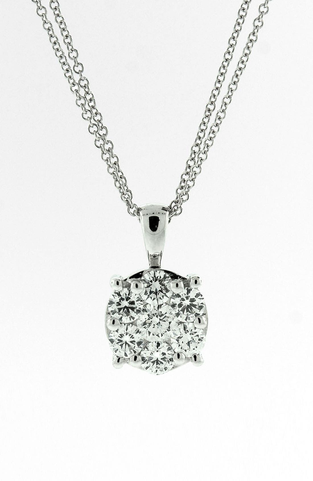 'Lucky 7' Diamond Pendant Necklace,                         Main,                         color, White Gold