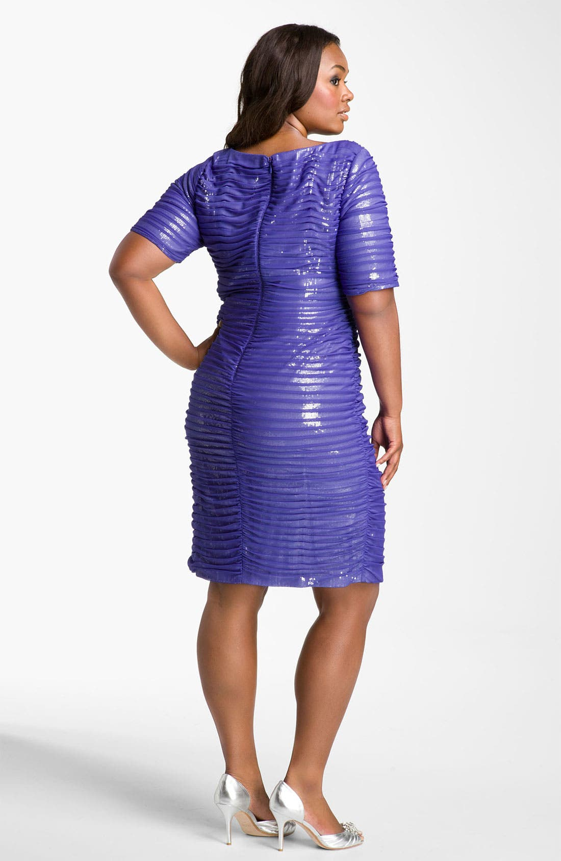 Alternate Image 2  - Adrianna Papell Sequin Lined Sheath Dress (Plus)