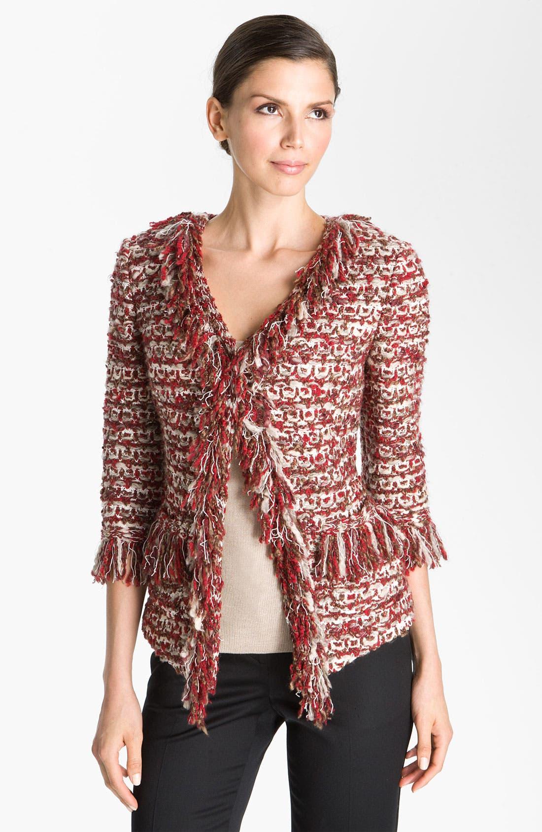 Alternate Image 1 Selected - St. John Collection V-Neck Ruby Tweed Jacket