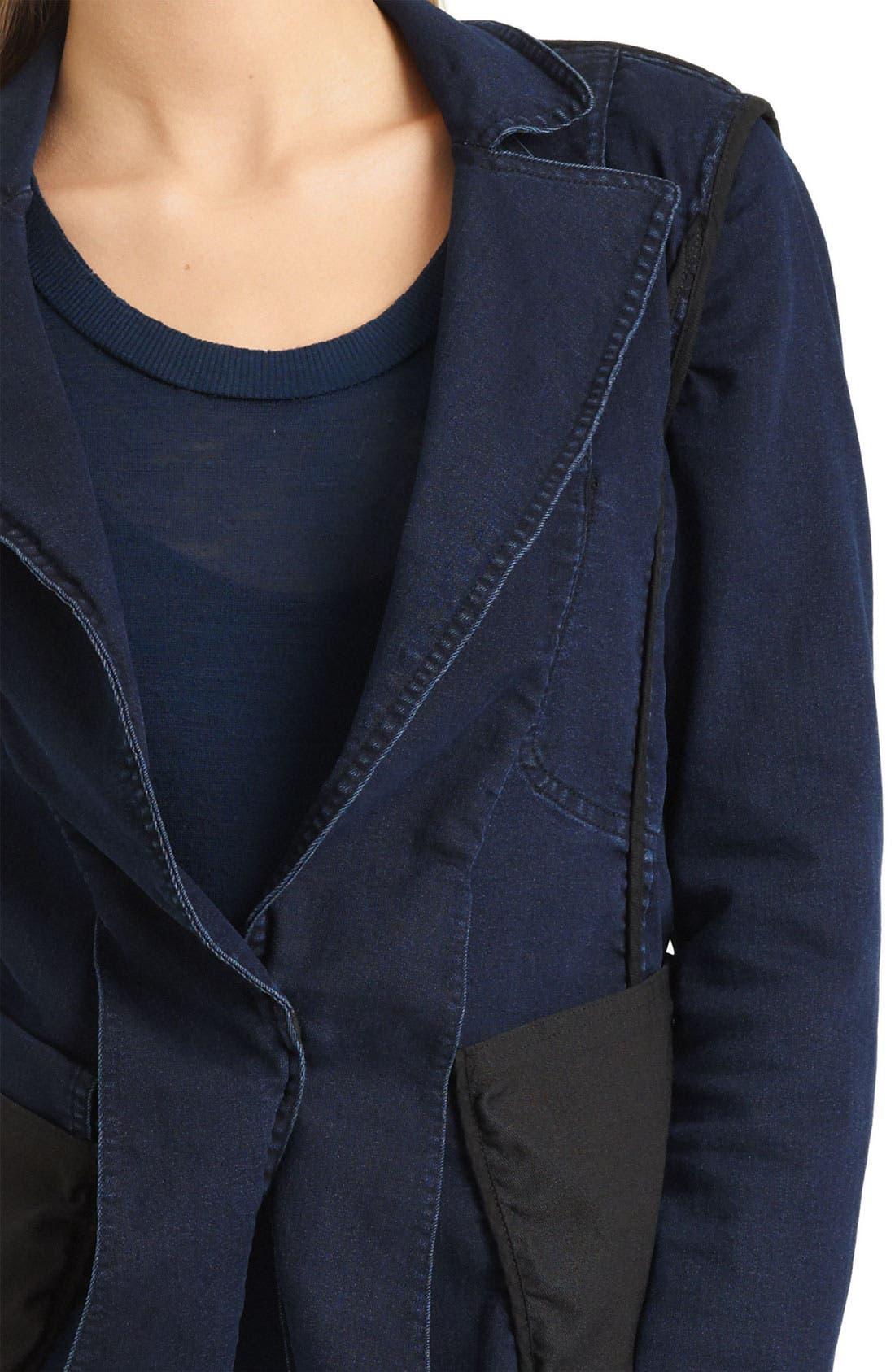 Alternate Image 3  - Donna Karan Collection Stretch Denim Jacket