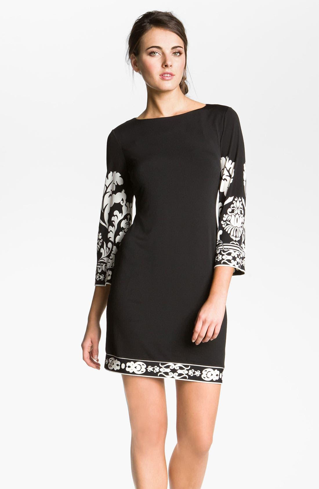 Main Image - Donna Morgan Print Matte Jersey Dress