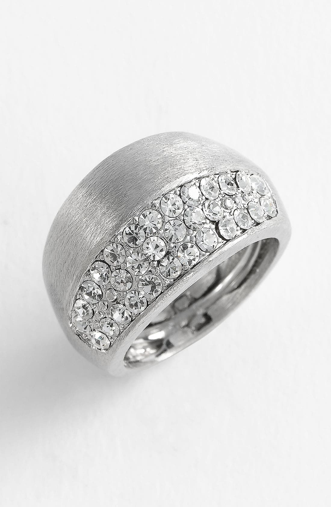 Alternate Image 1 Selected - Ariella Collection Metal & Crystal Ring