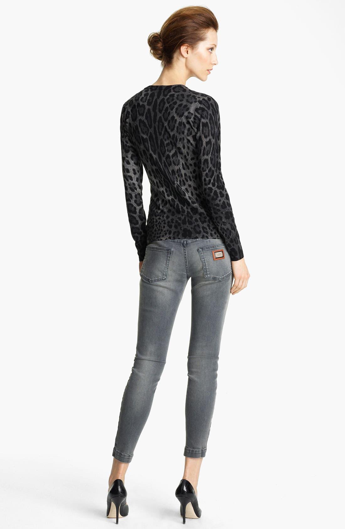 Alternate Image 3  - Dolce&Gabbana Skinny Ankle Zip Jeans