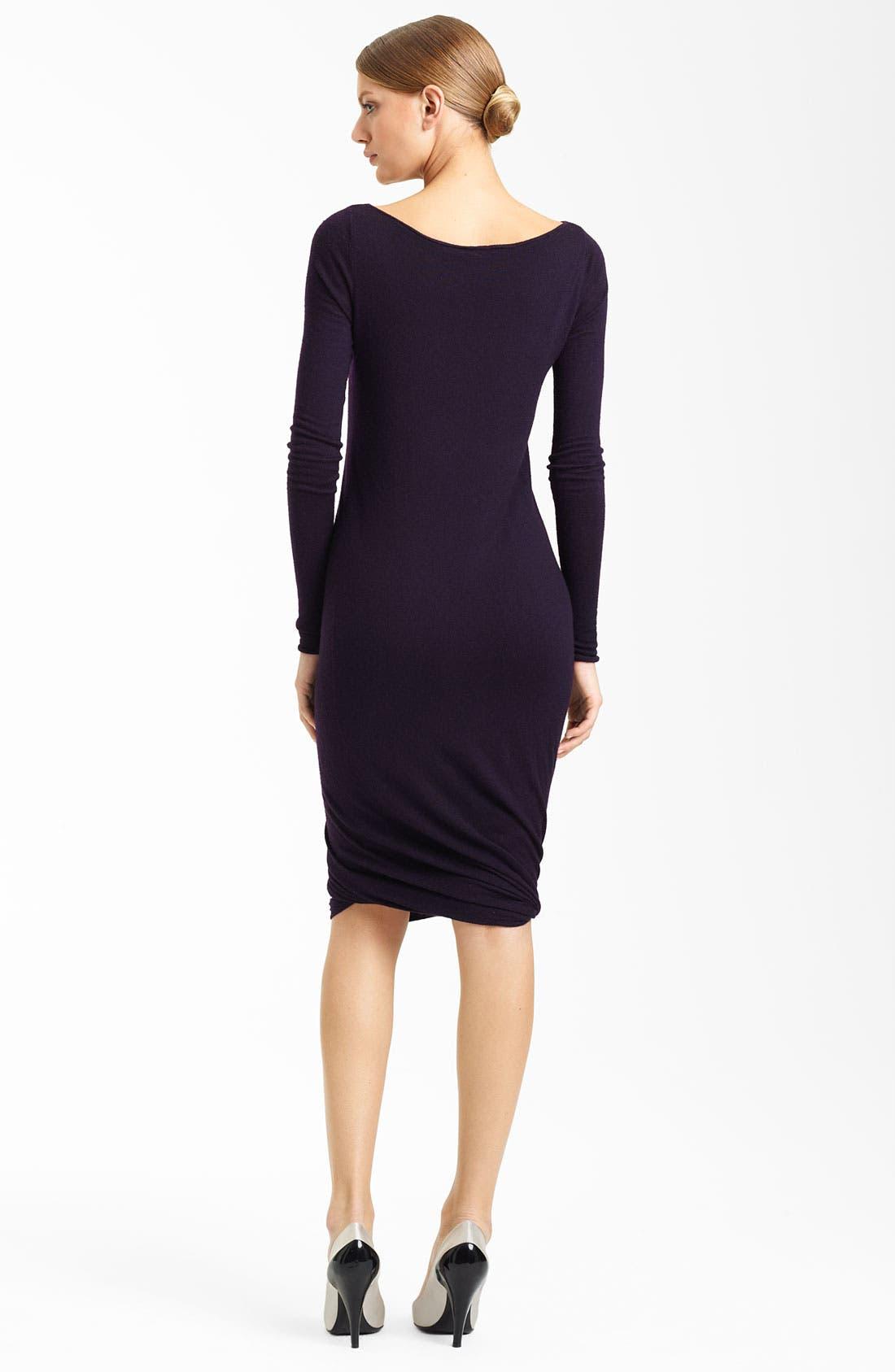 Alternate Image 2  - Donna Karan Collection Twisted Hem Cashmere Dress