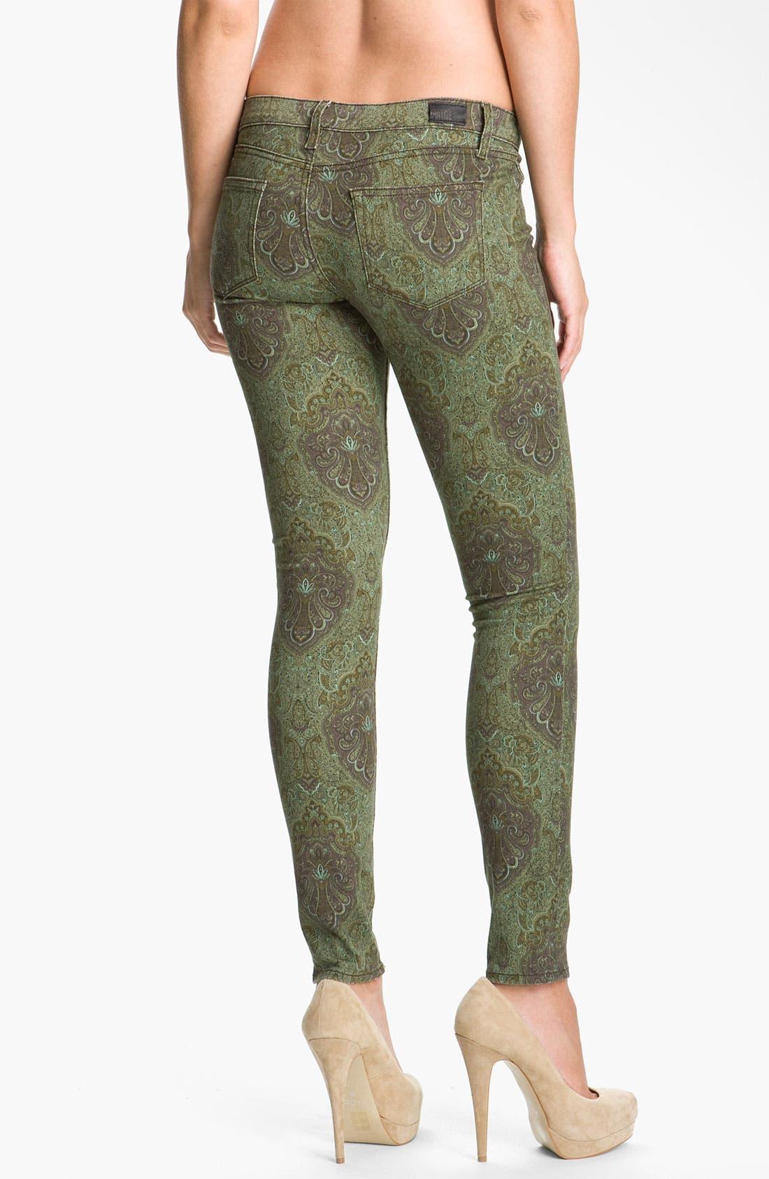 Alternate Image 2  - Paige Denim 'Verdugo' Print Skinny Jeans (Estate Green Paisley)