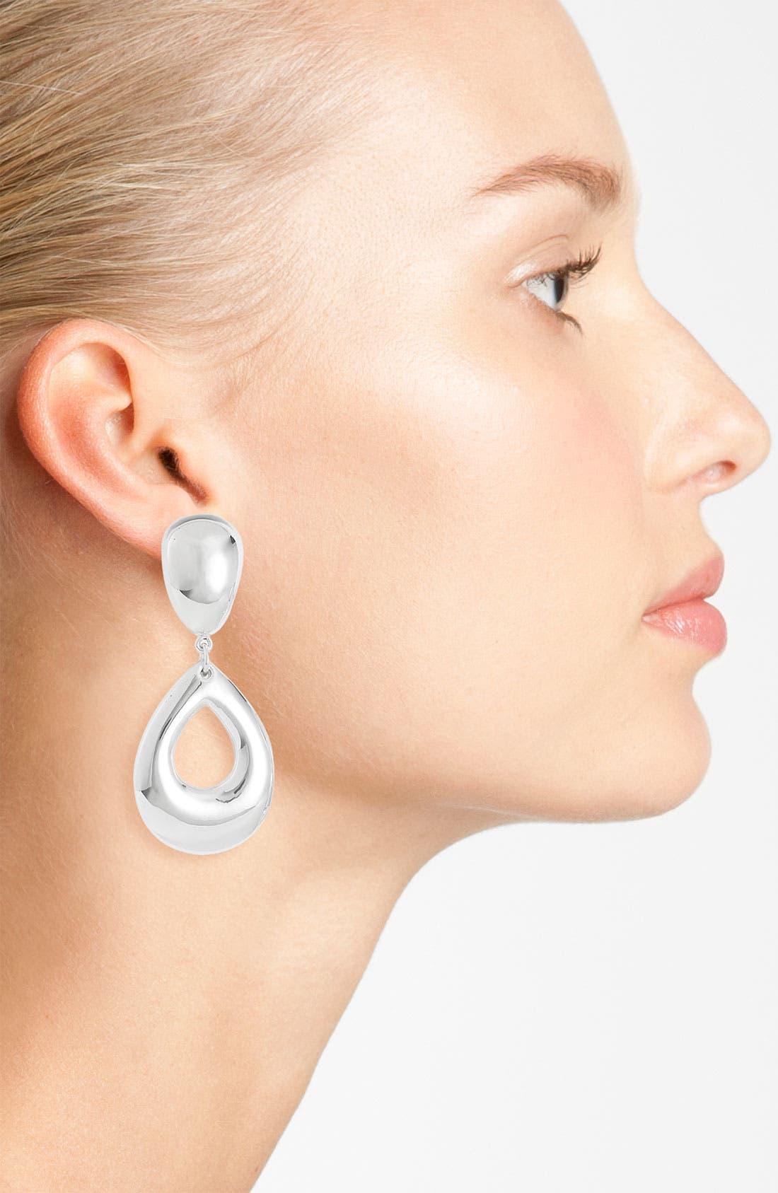 Alternate Image 2  - Simon Sebbag 'Batik' Open Teardrop Clip Earrings