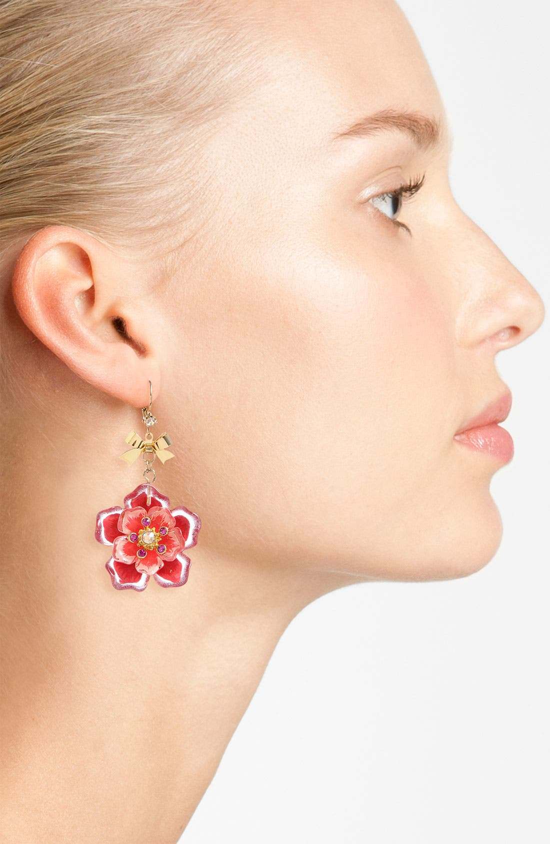 Alternate Image 2  - Betsey Johnson 'Hawaiian Luau' Floral Drop Earrings