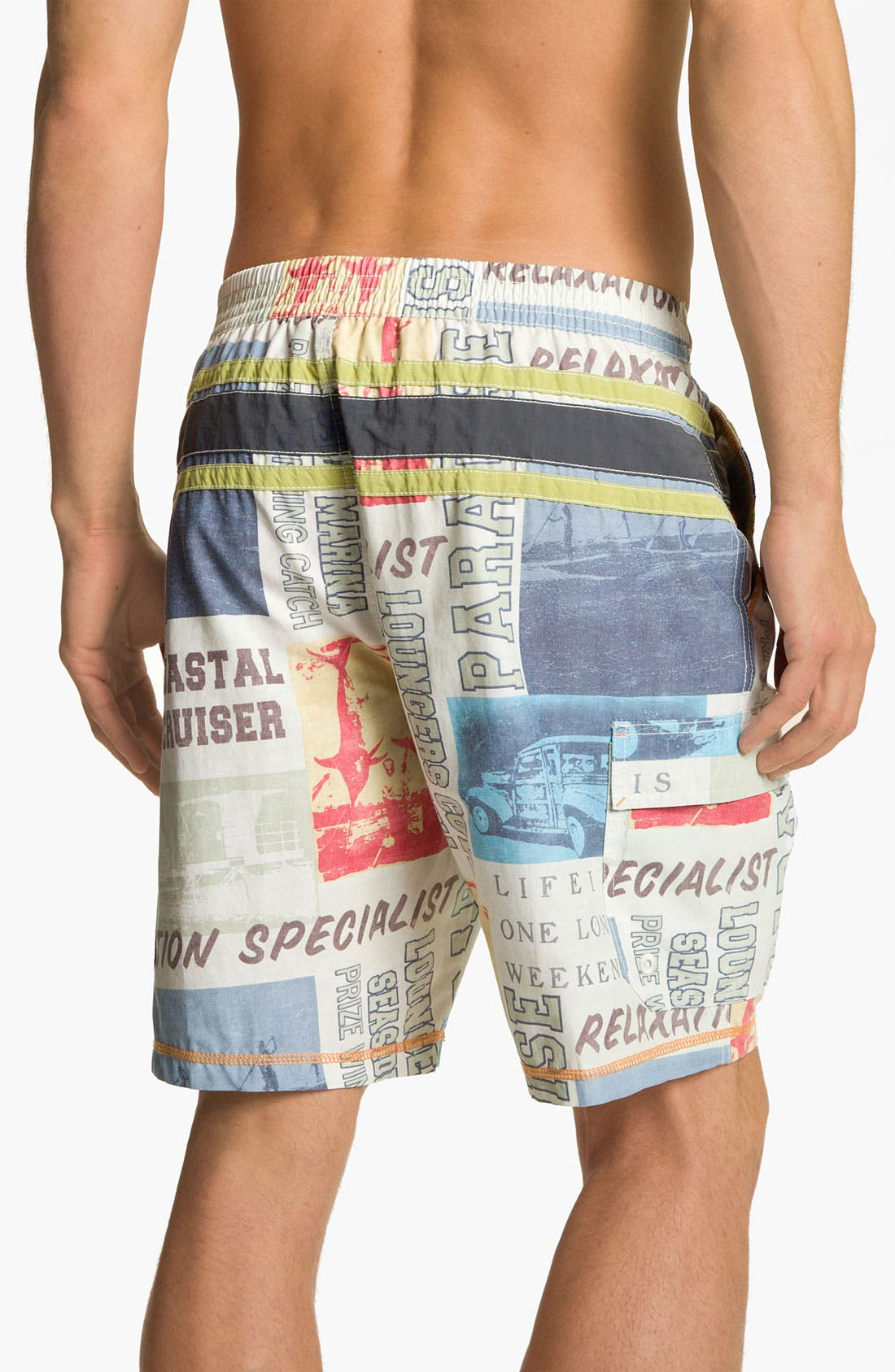 Alternate Image 2  - Tommy Bahama 'Paddleboard Square' Swim Trunks
