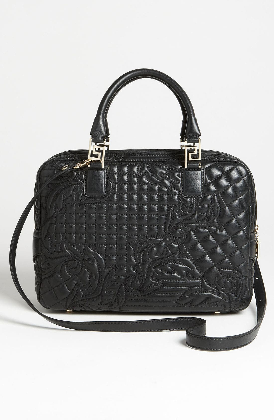 Alternate Image 4  - Versace 'Linea' Leather Satchel