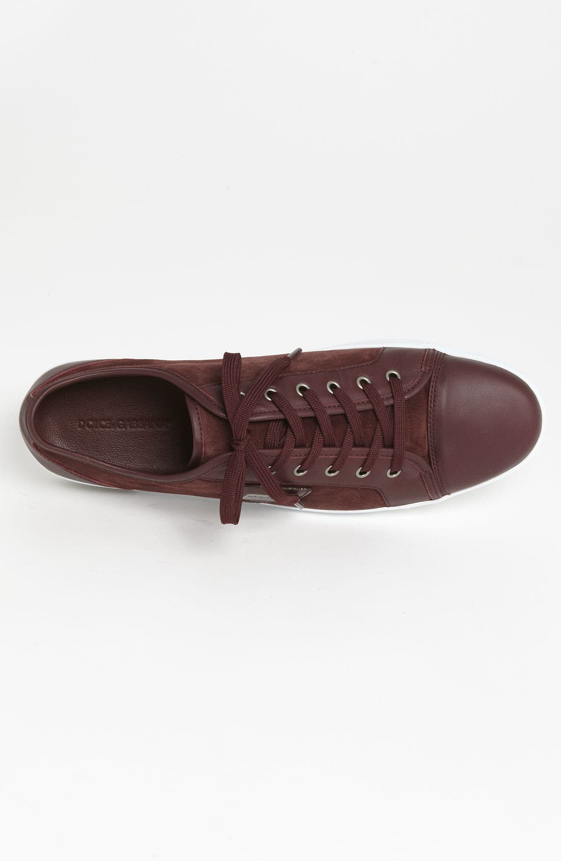Suede Sneaker,                             Alternate thumbnail 3, color,                             Red Suede