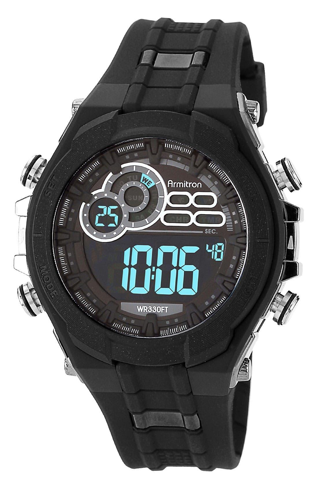 Alternate Image 1 Selected - Armitron Digital Resin Watch, 49mm