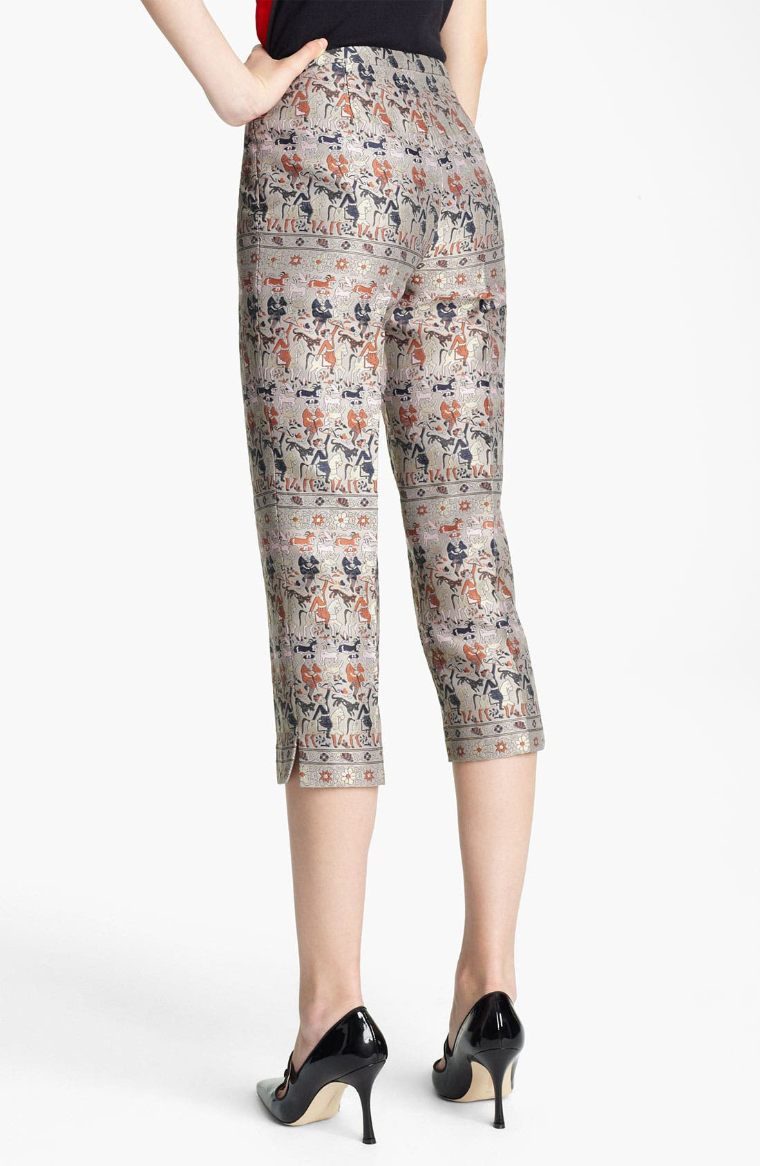 Alternate Image 2  - Jil Sander Navy Crop Straight Leg Jacquard Pants