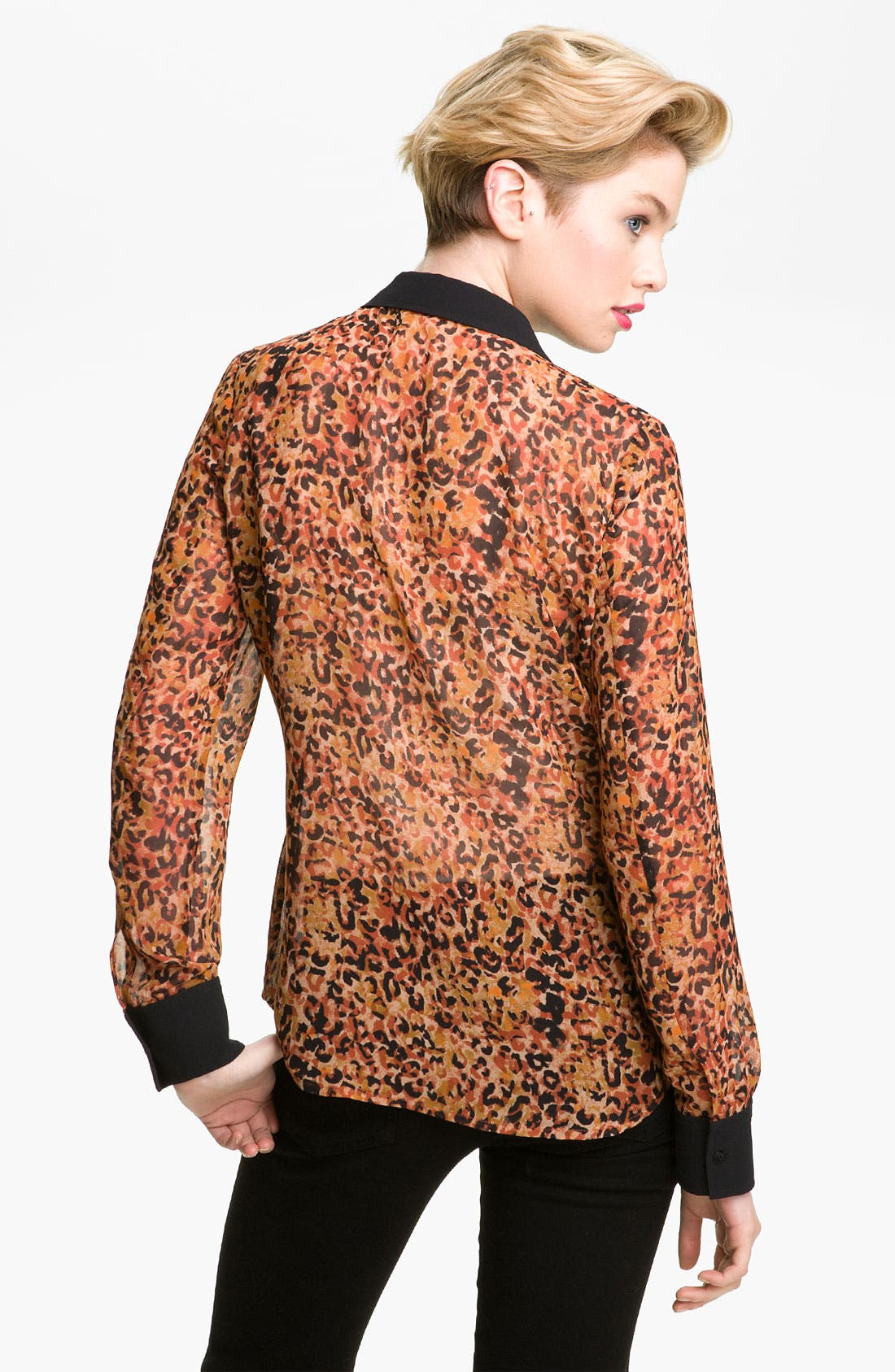 Alternate Image 2  - Hinge® Print Chiffon Shirt