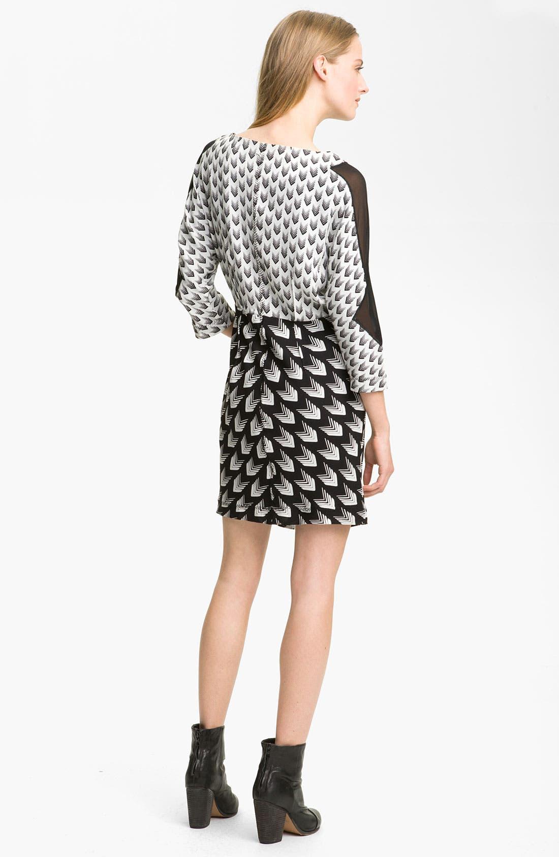 Alternate Image 2  - rag & bone 'Gayatri Arrow' Print Crepe Dress