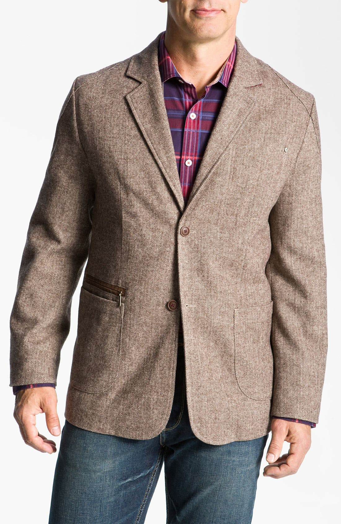 Alternate Image 1 Selected - Tommy Bahama Denim 'Heritage' Herringbone Blazer