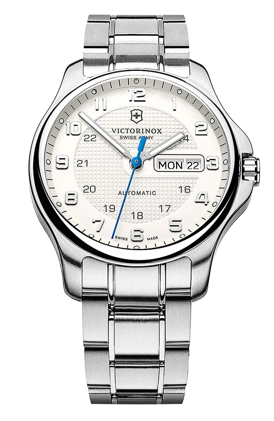 Alternate Image 1 Selected - Victorinox Swiss Army® 'Officer's' Automatic Bracelet Watch, 40mm