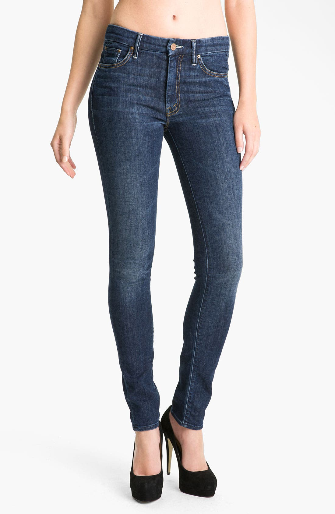 Alternate Image 1 Selected - MOTHER 'The Looker' Skinny Stretch Jeans (Flowers from the Storm)